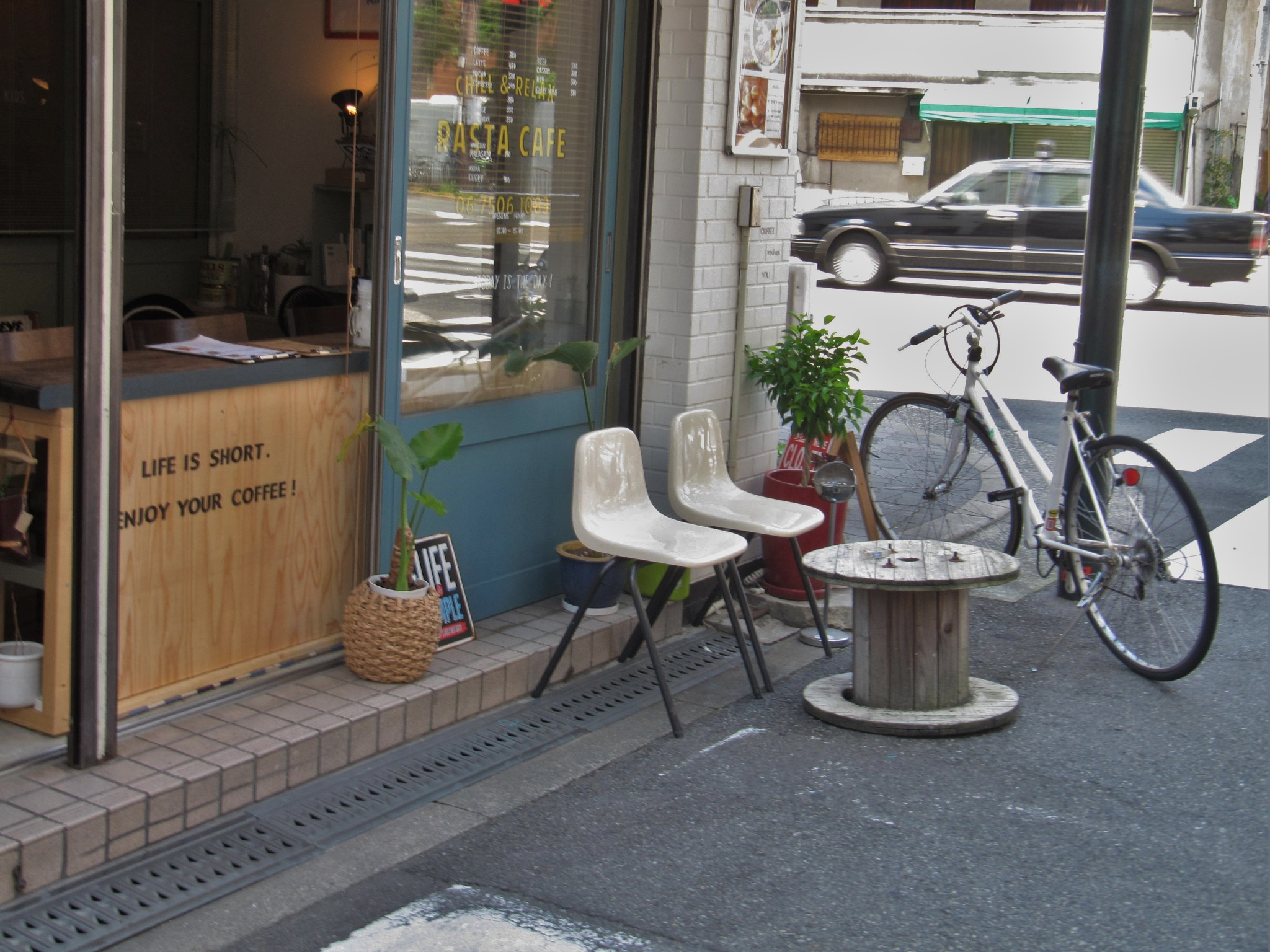 Photo in Cityscape #cafe #open space #osaka #street space