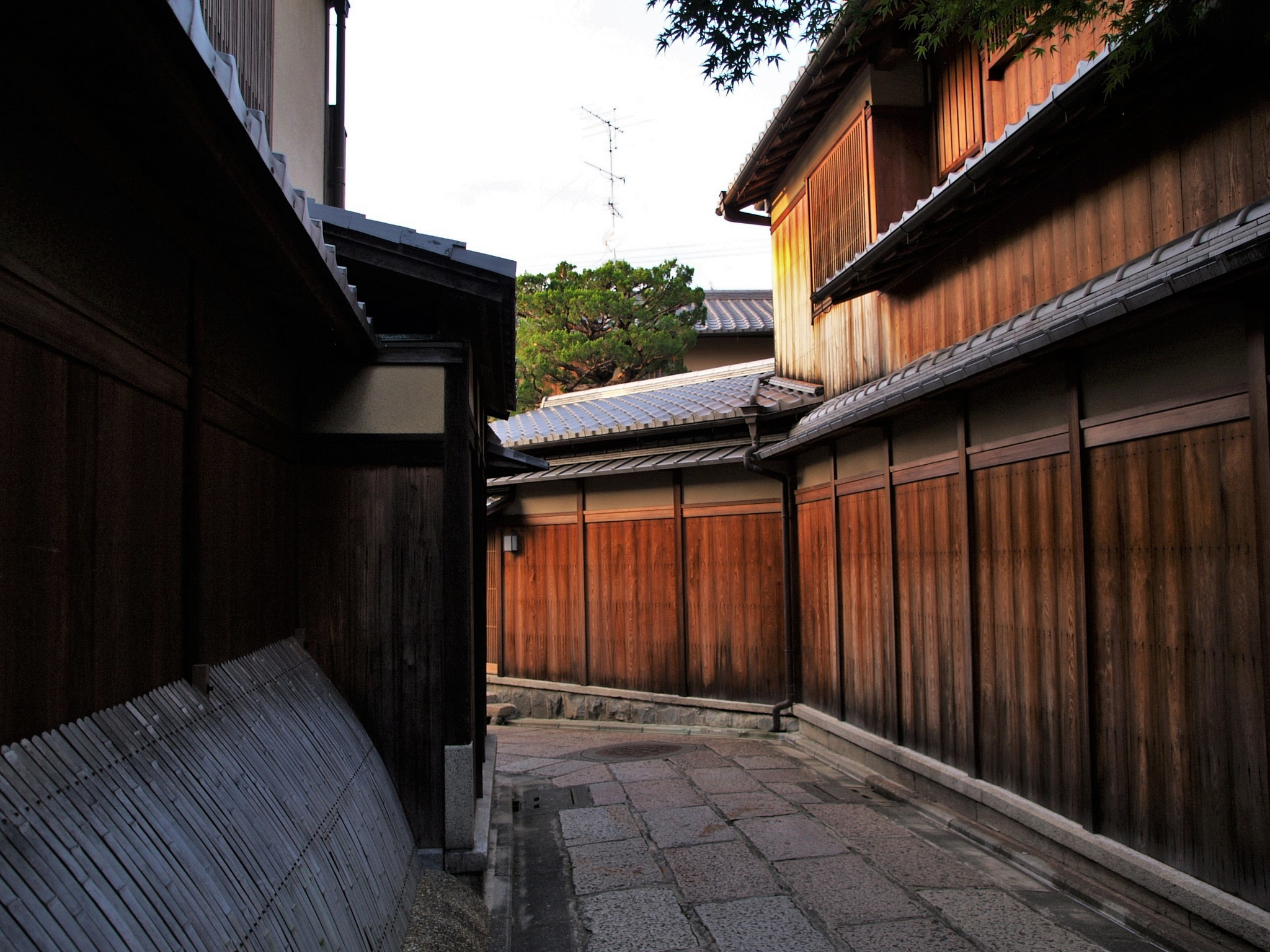 Kyoto stone fence alley by SANRI