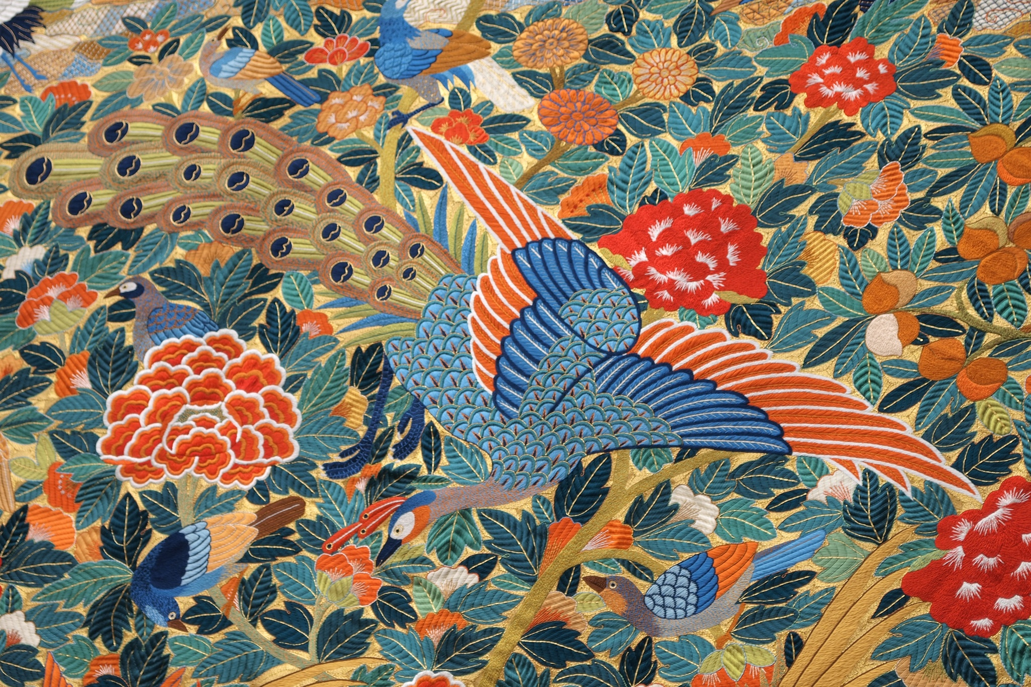 Peacock embroidery by SANRI