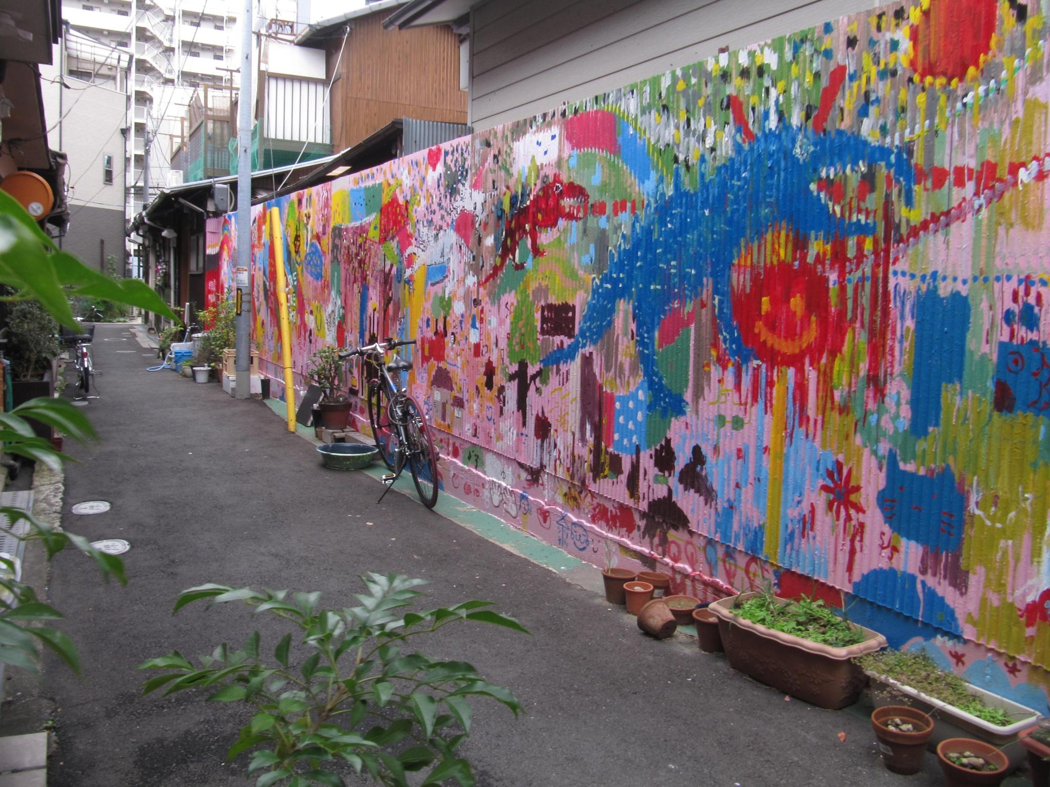 Art of galvanized iron wall by SANRI