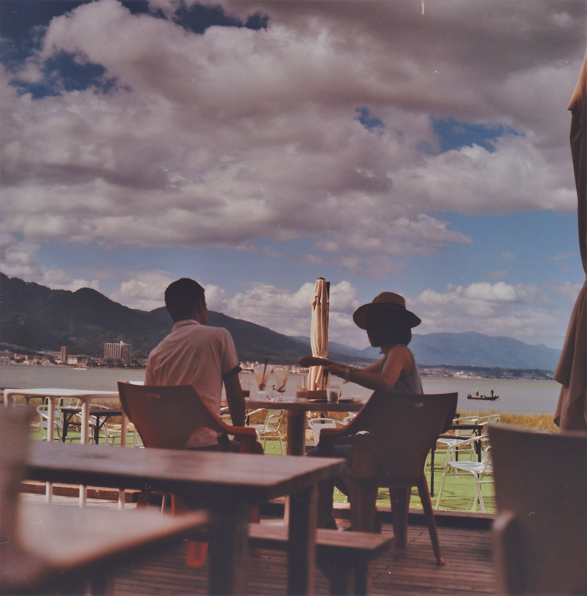Lake Biwa and terrace by SANRI