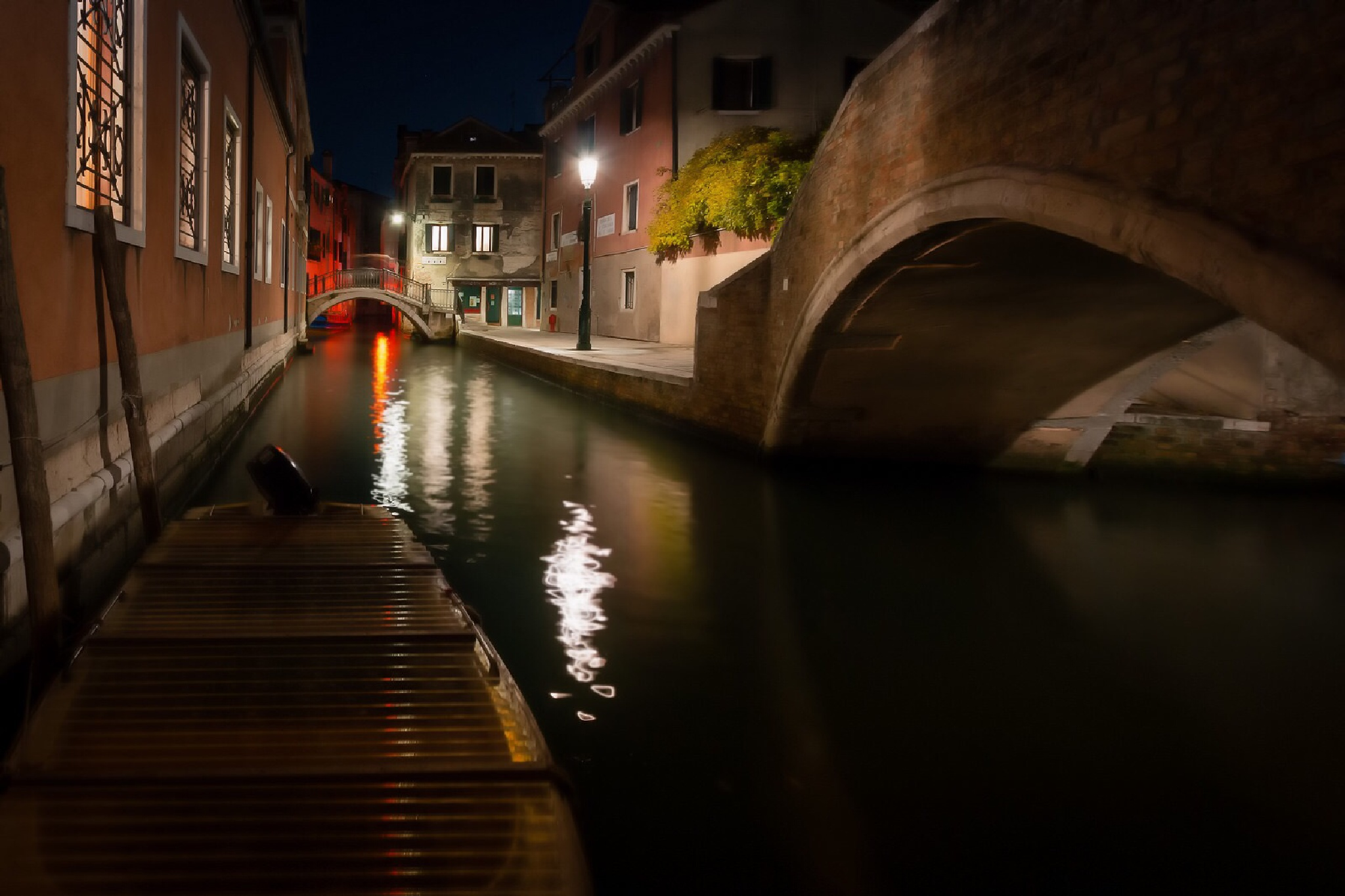Canal by night  by Rob Menting