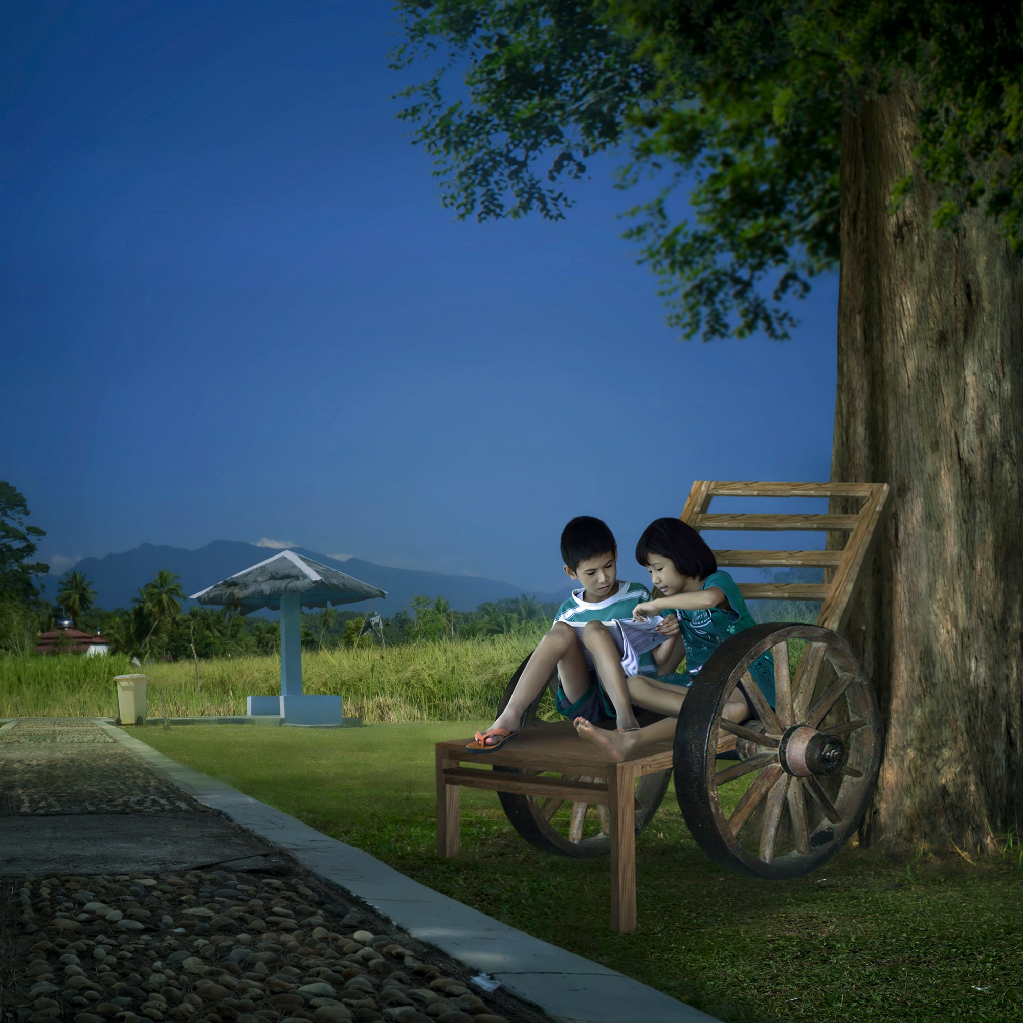 with my sister by Rinaldi Ardiansyah Chaniago