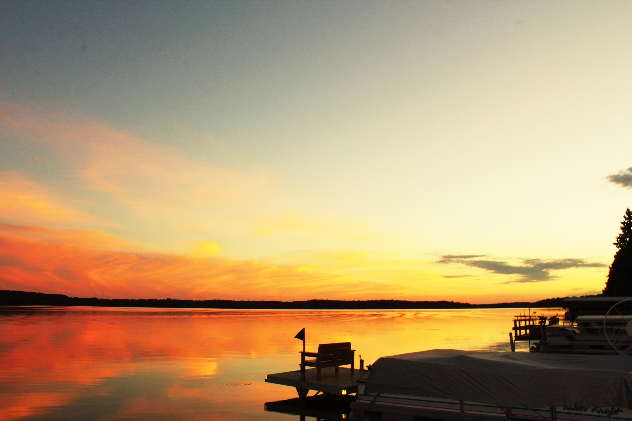 Peaceful sunset on the lake by autumn.acres.1