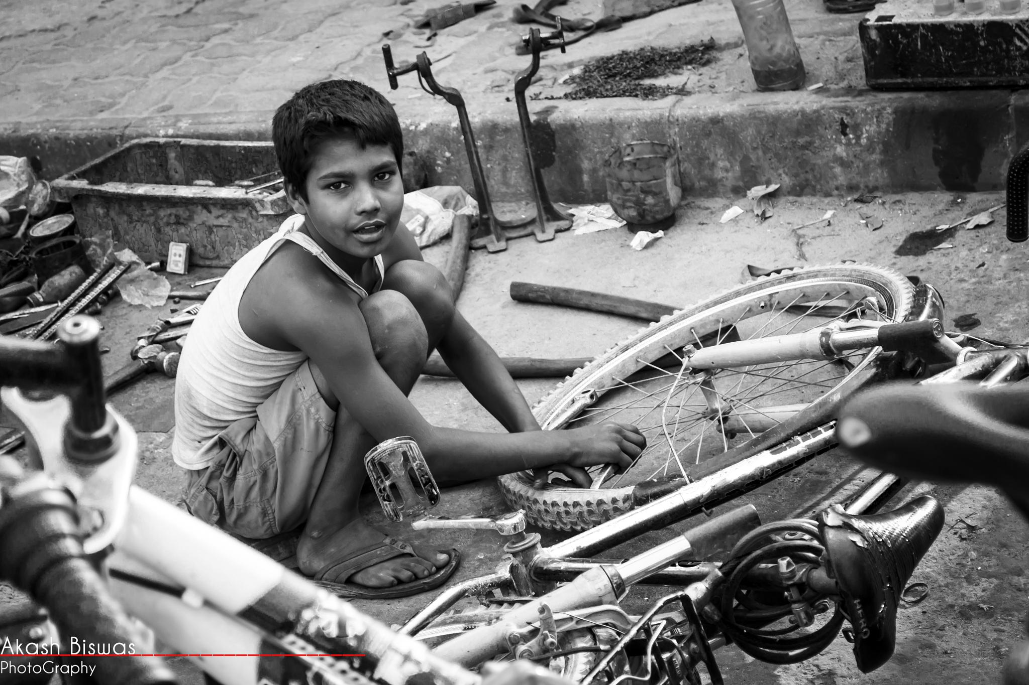 Cycle Boy by akashbiswas.dipto