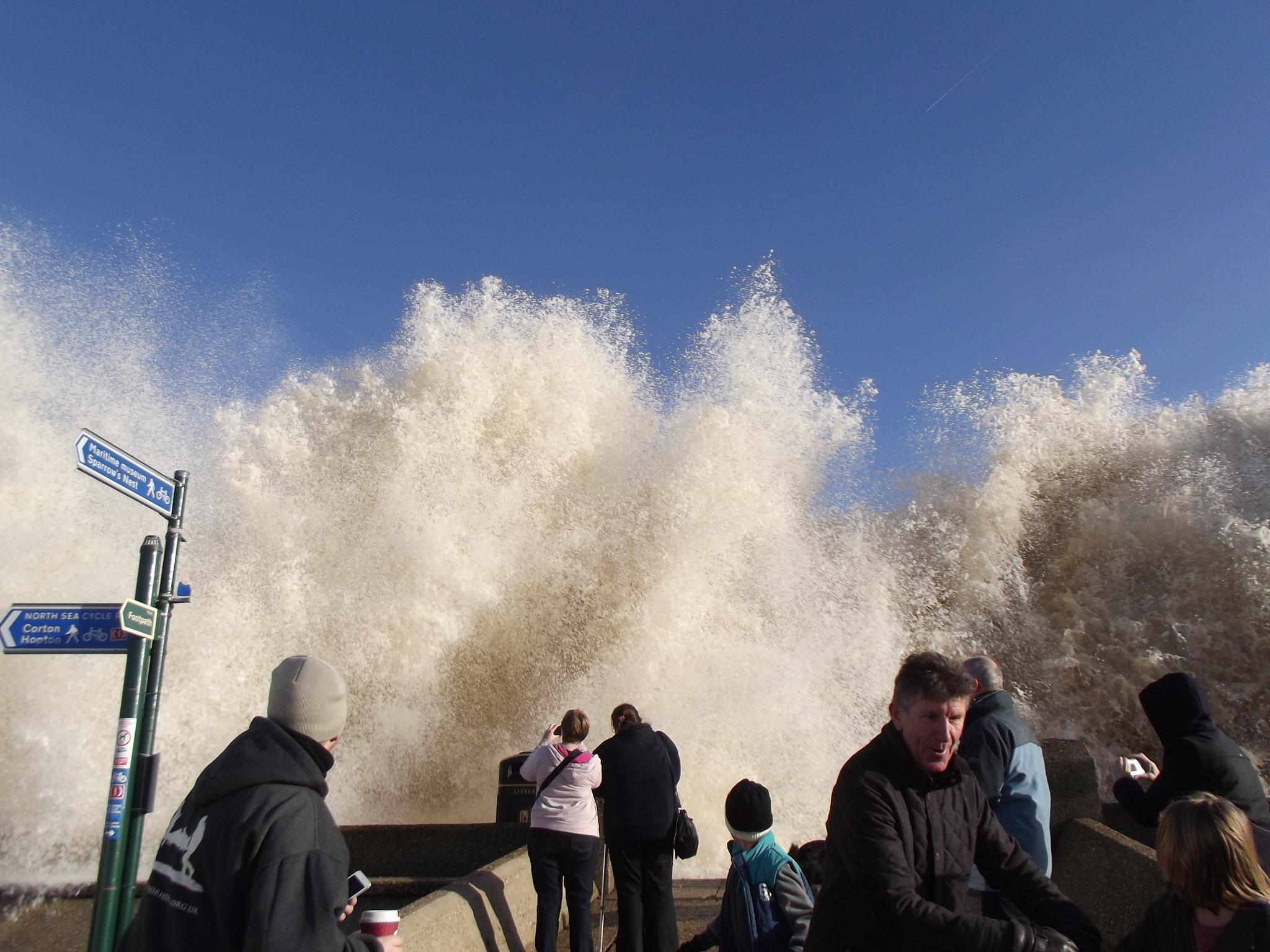 Tidal Surge in Lowestoft by Lisa Wilson