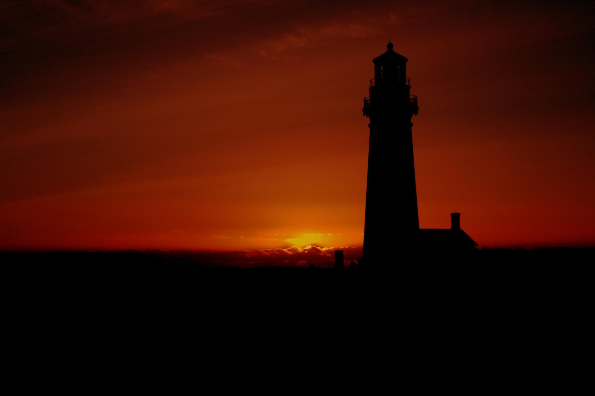 Photo in Landscape #landscape #sunset #lighthouse #oregon