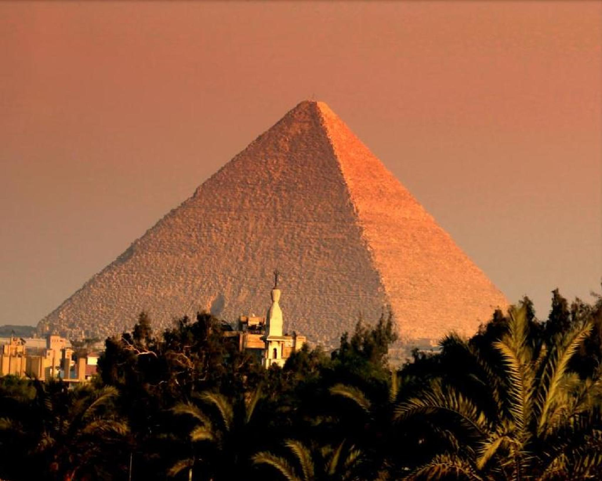 Great Pyramid at Dusk by ChristopherMorrison