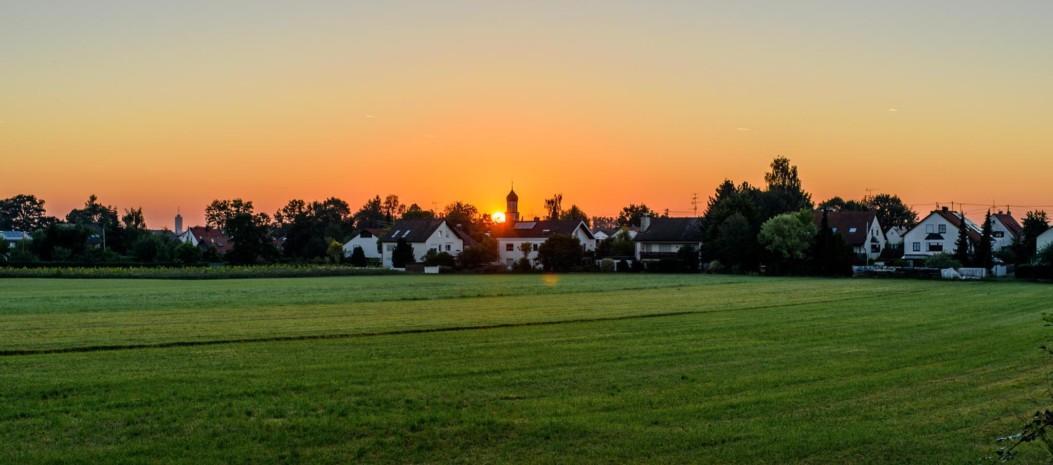 summer morning Augsburg-Bergheim by designatgarten