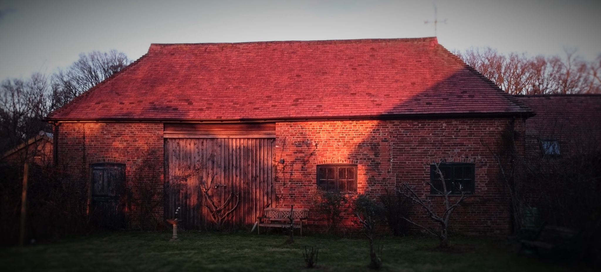 Sundown At The Stables by geoff richards