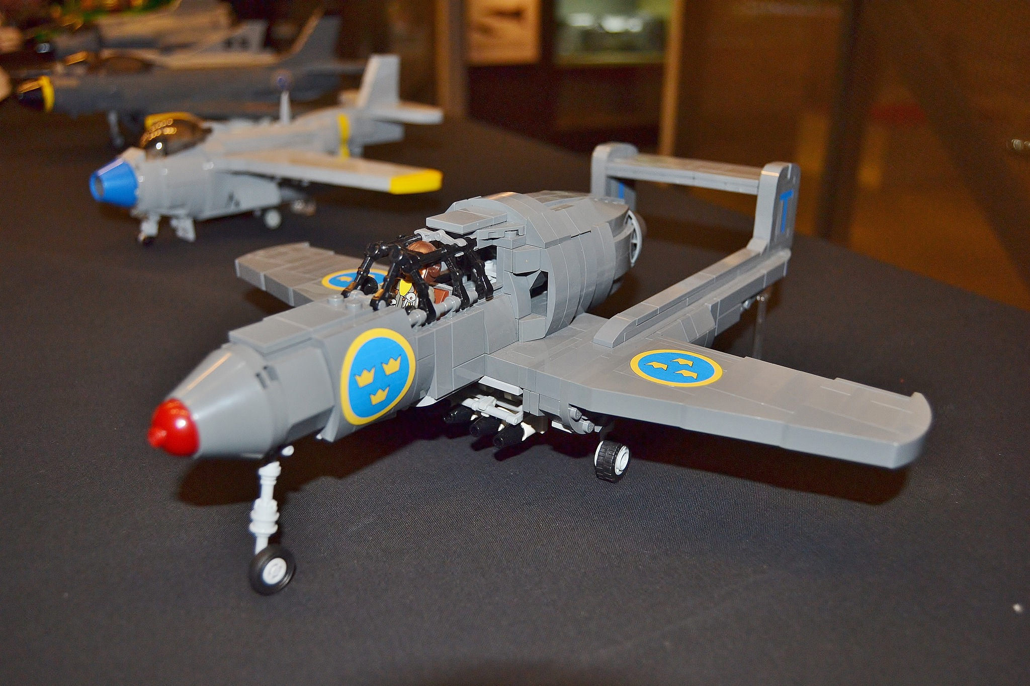 Lego Swebrick exhibition in the Air Force Museum by stefan.andersson3