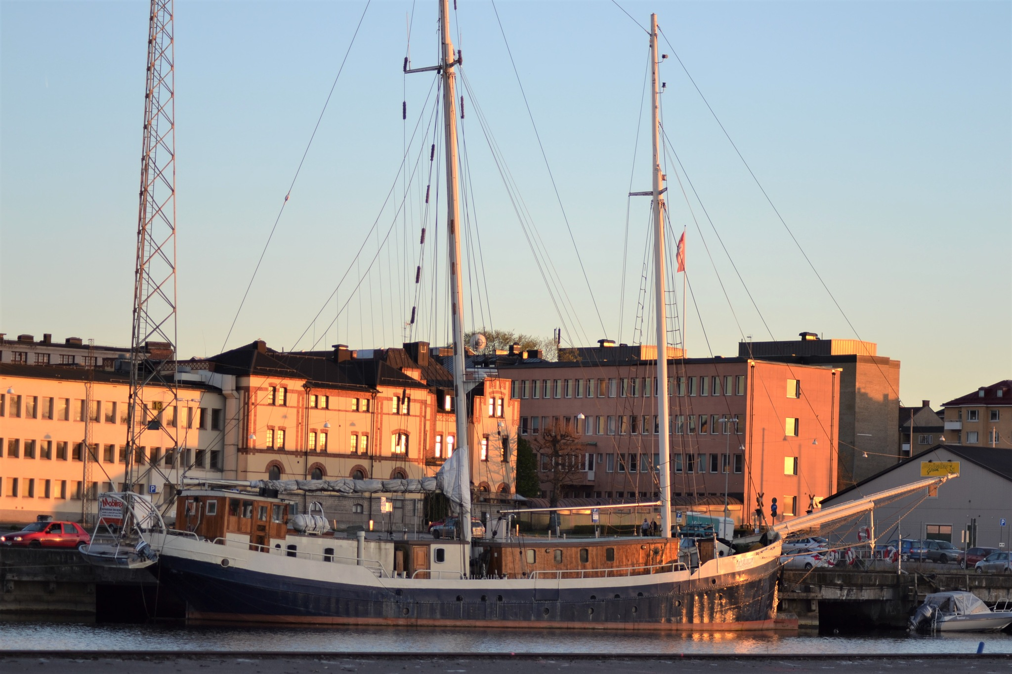 Sailing boat in Norrköping harbor by stefan.andersson3