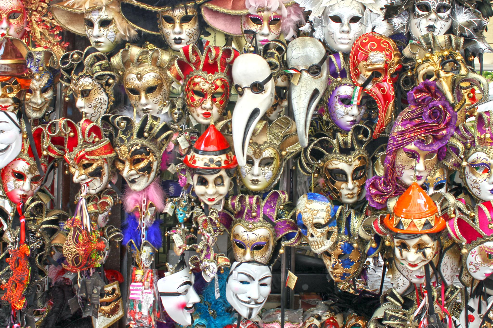 Venetian mask display by joelormsby