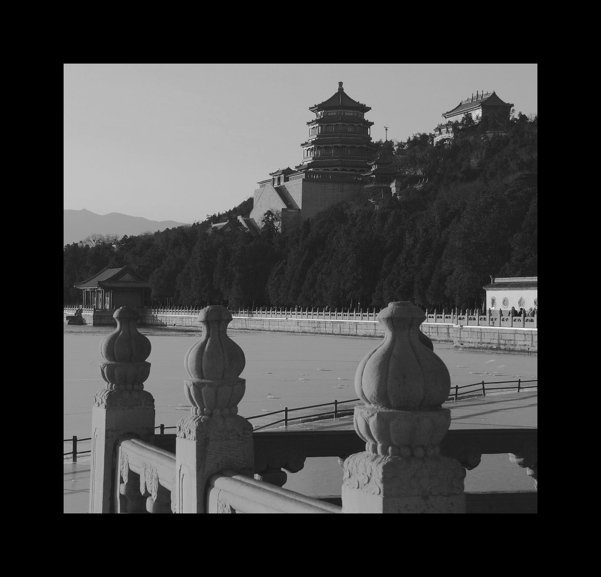Summer Palace in B&W. by Ming_Bear