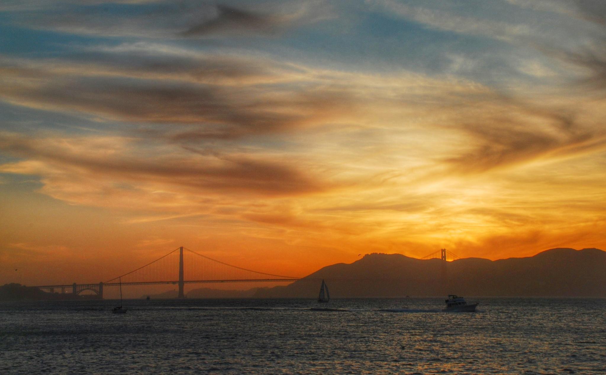 Golden Gate Sunset! by Ming_Bear