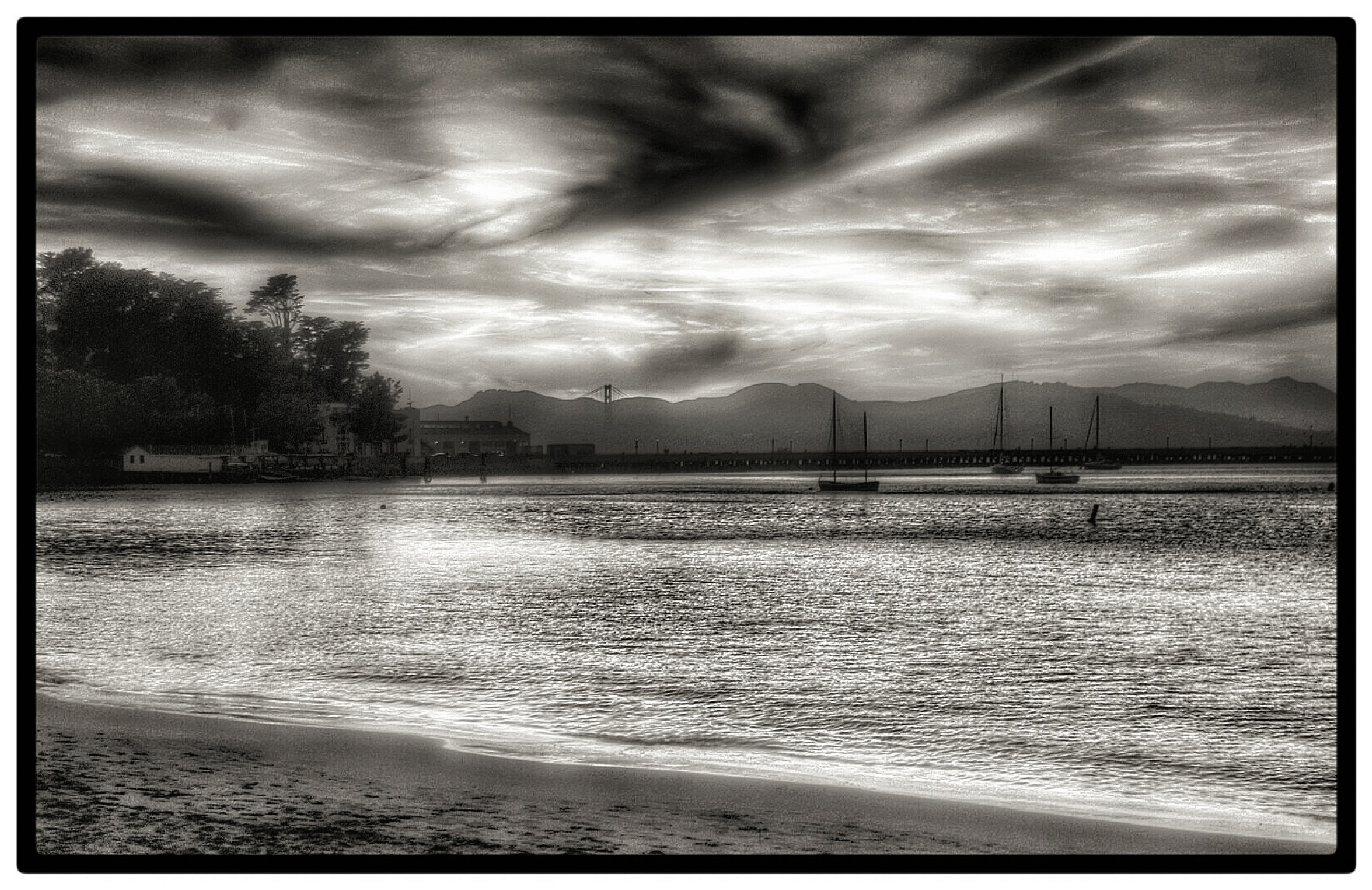 San Francisco Bay in B&W by Ming_Bear