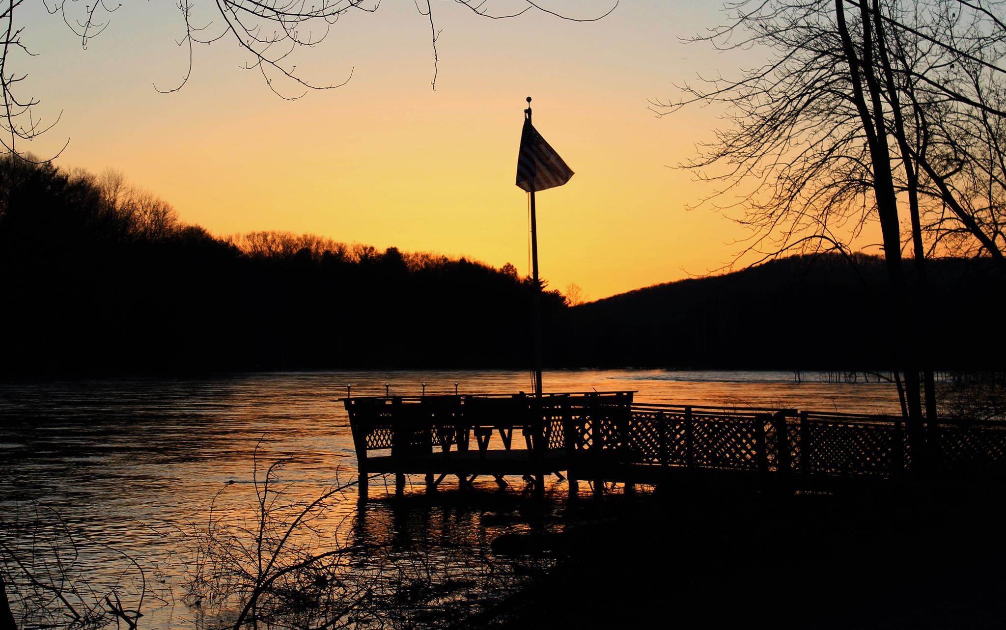 April Evening on the Allegheny by Auggie23
