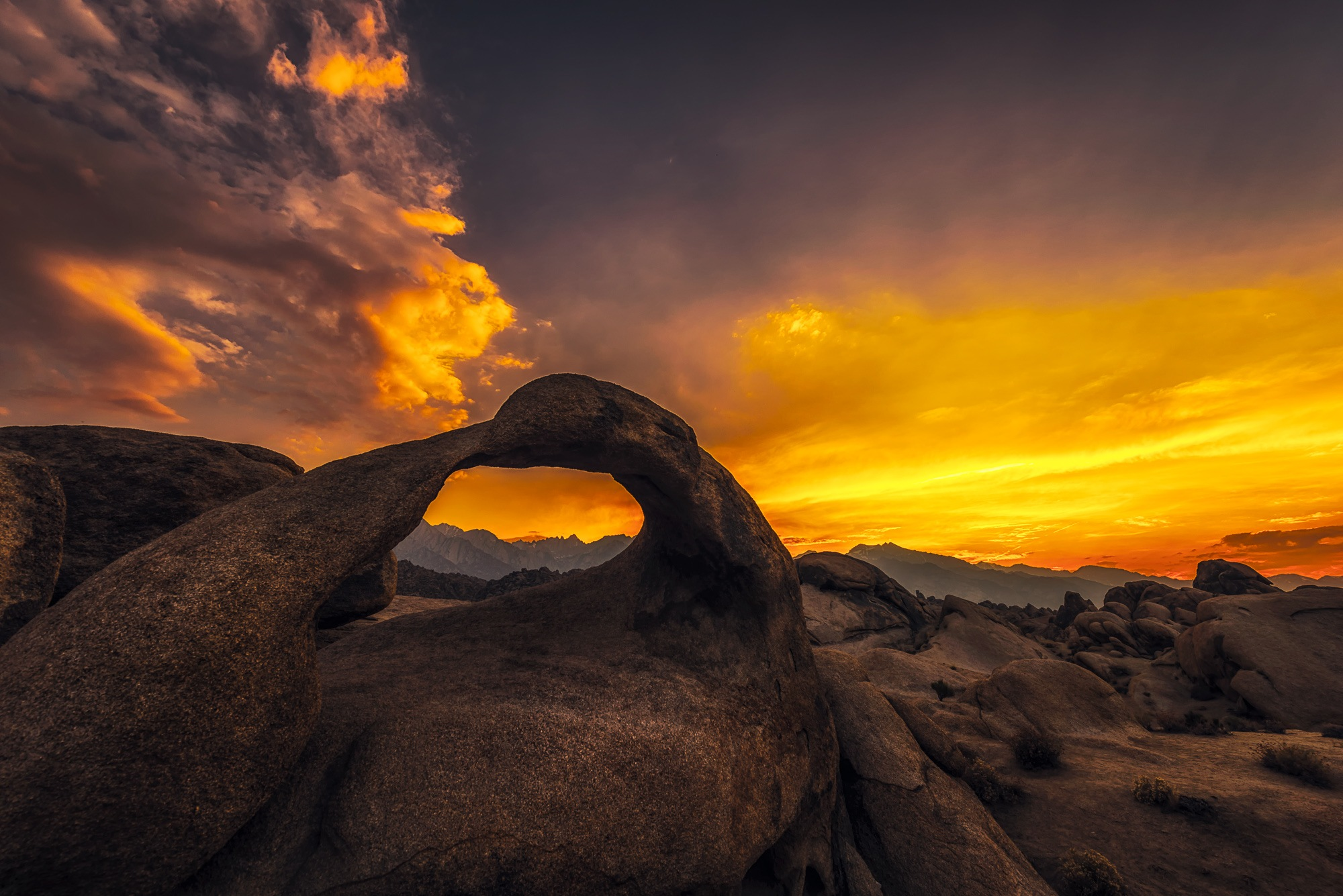 Sunset in Mobius Arch by Bon Koo