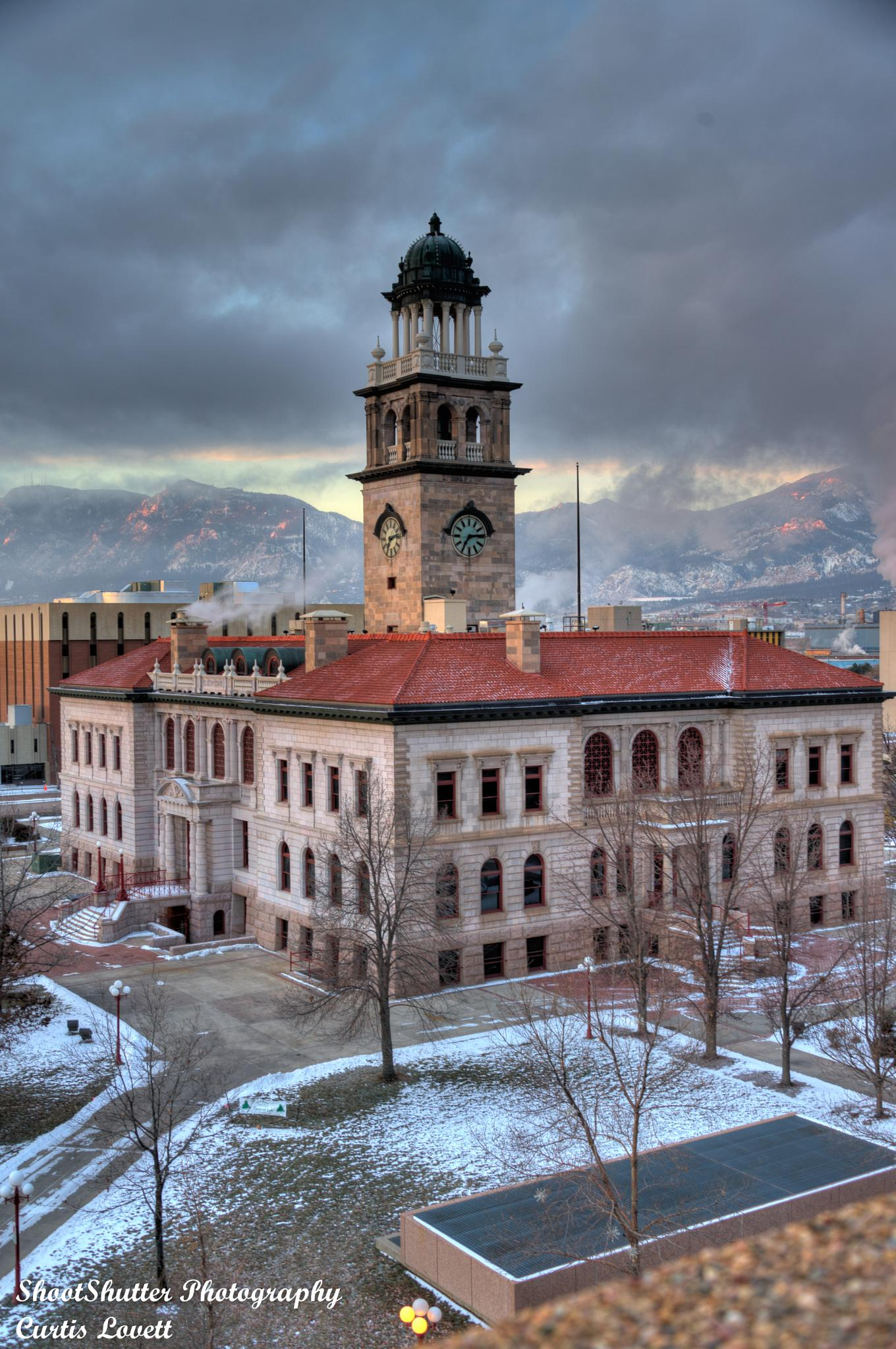 Pioneer Museum at sunrise by Curtis Lovett