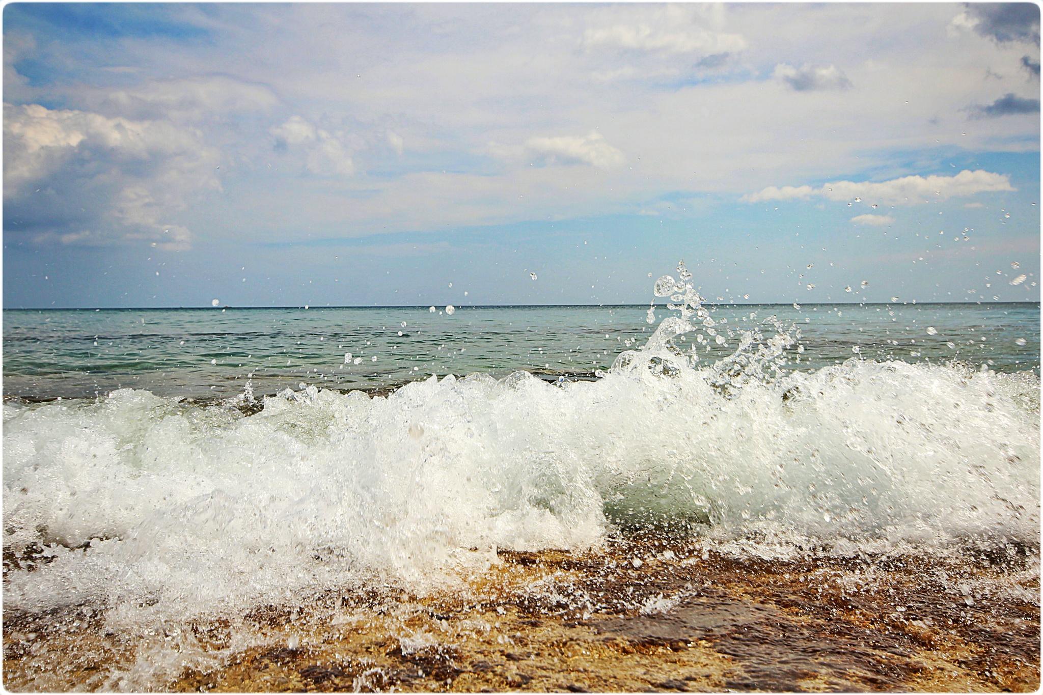 Photo in Sea and Sand #sea #ocean #waves #splash #water