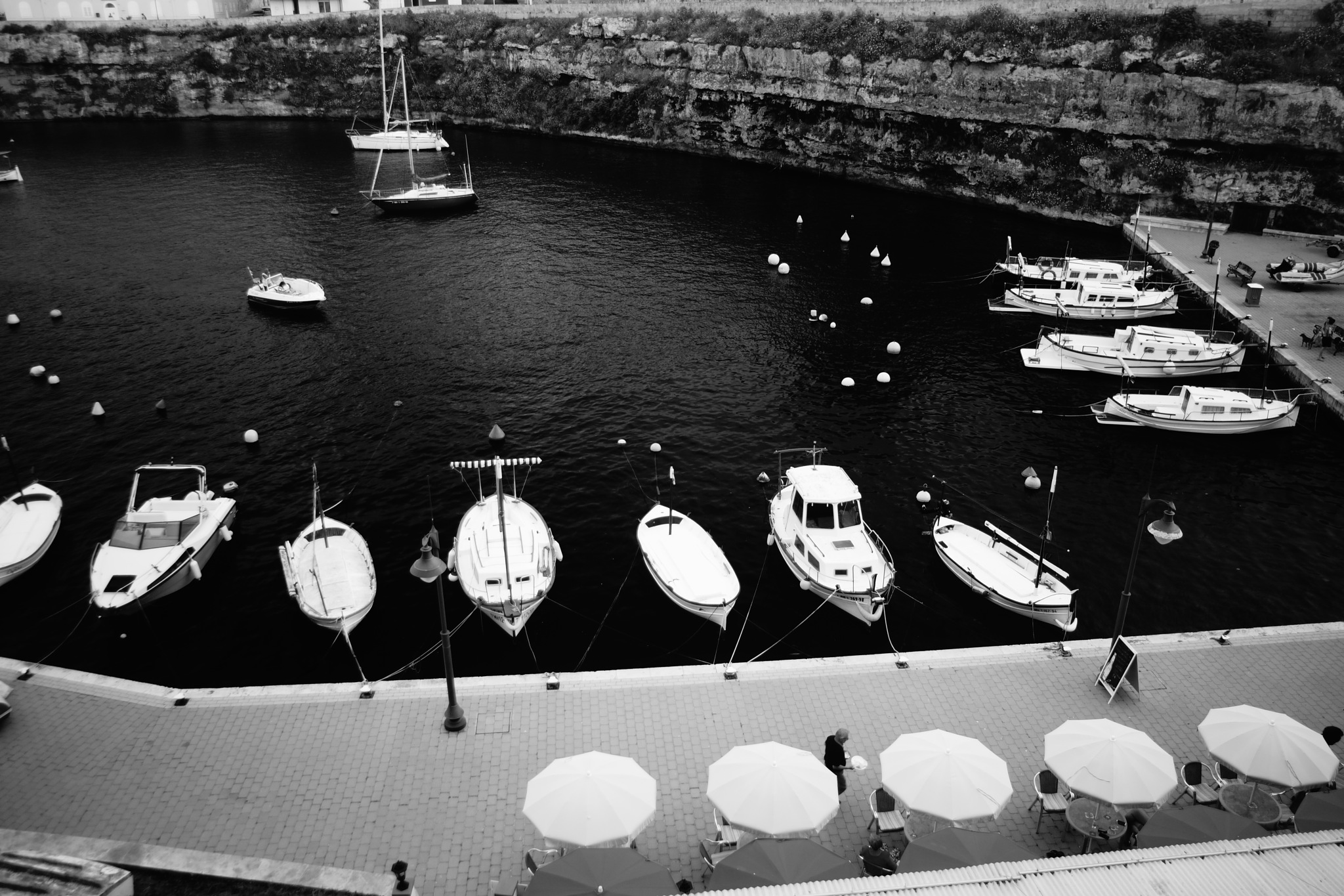 View of harbour from above by erol.antz