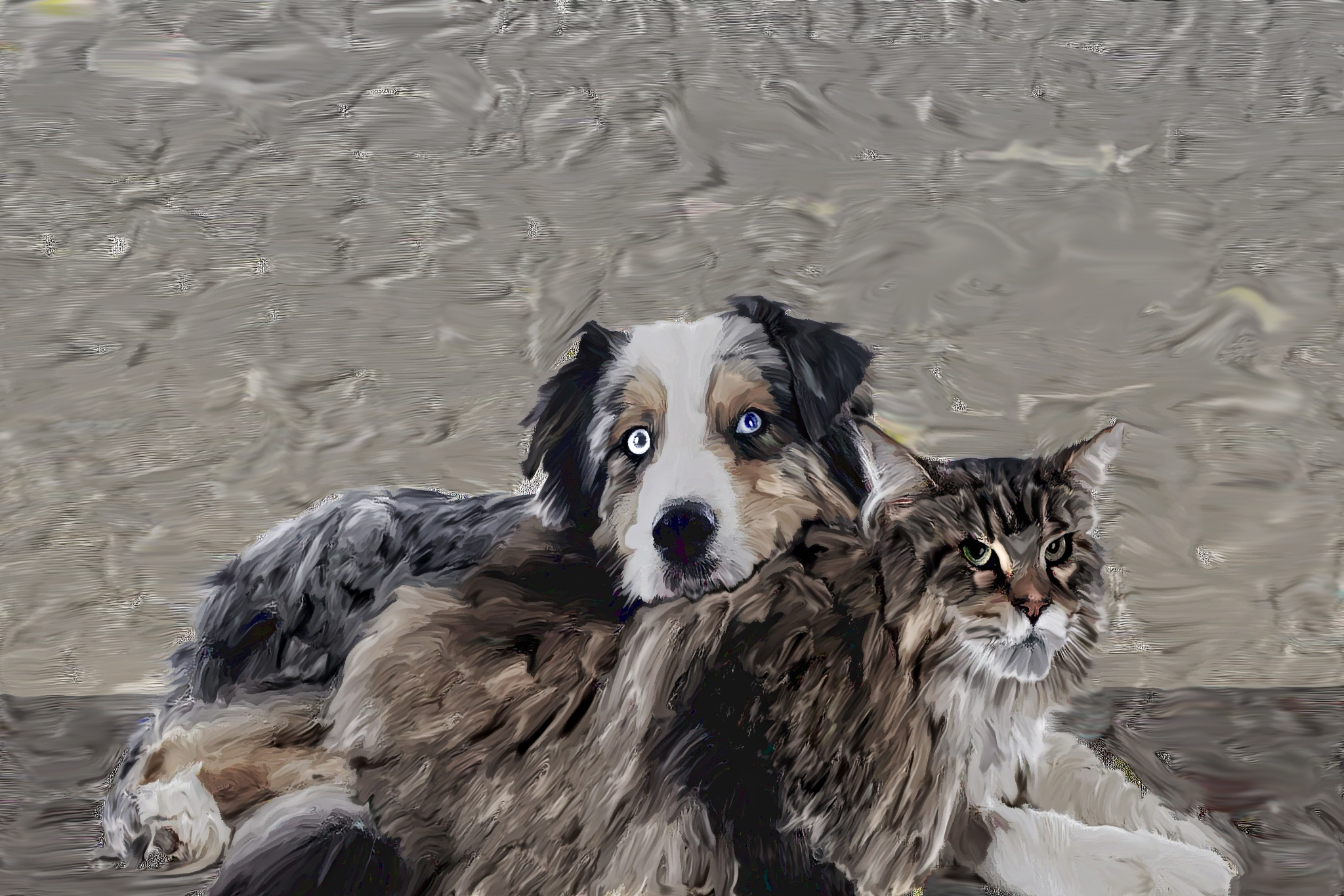 best of friends cat and dog together by brucemoore169