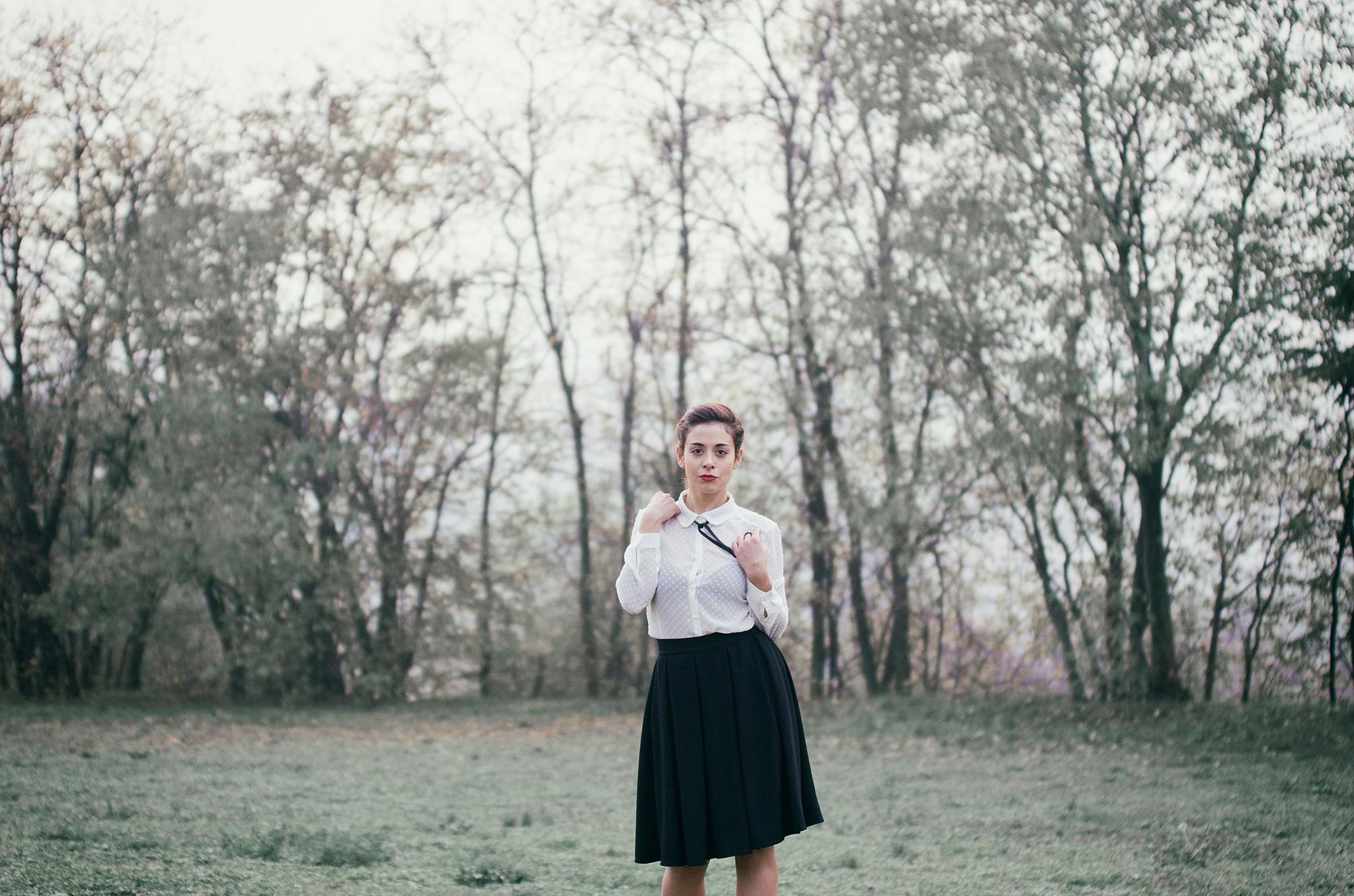 Photo in Random #donna #woman #camicia #alberi #verde #pentax #k5