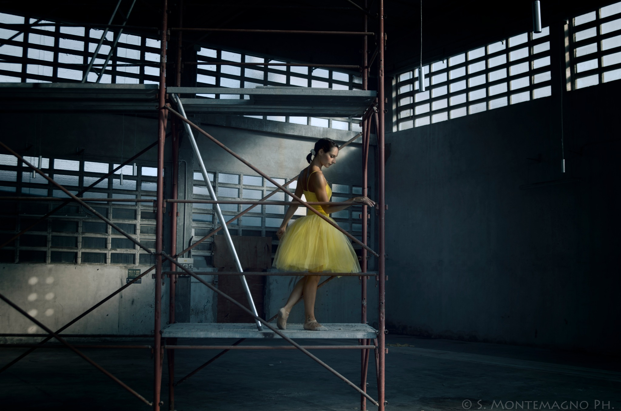 The yellow dancer by Salvatore Montemagno