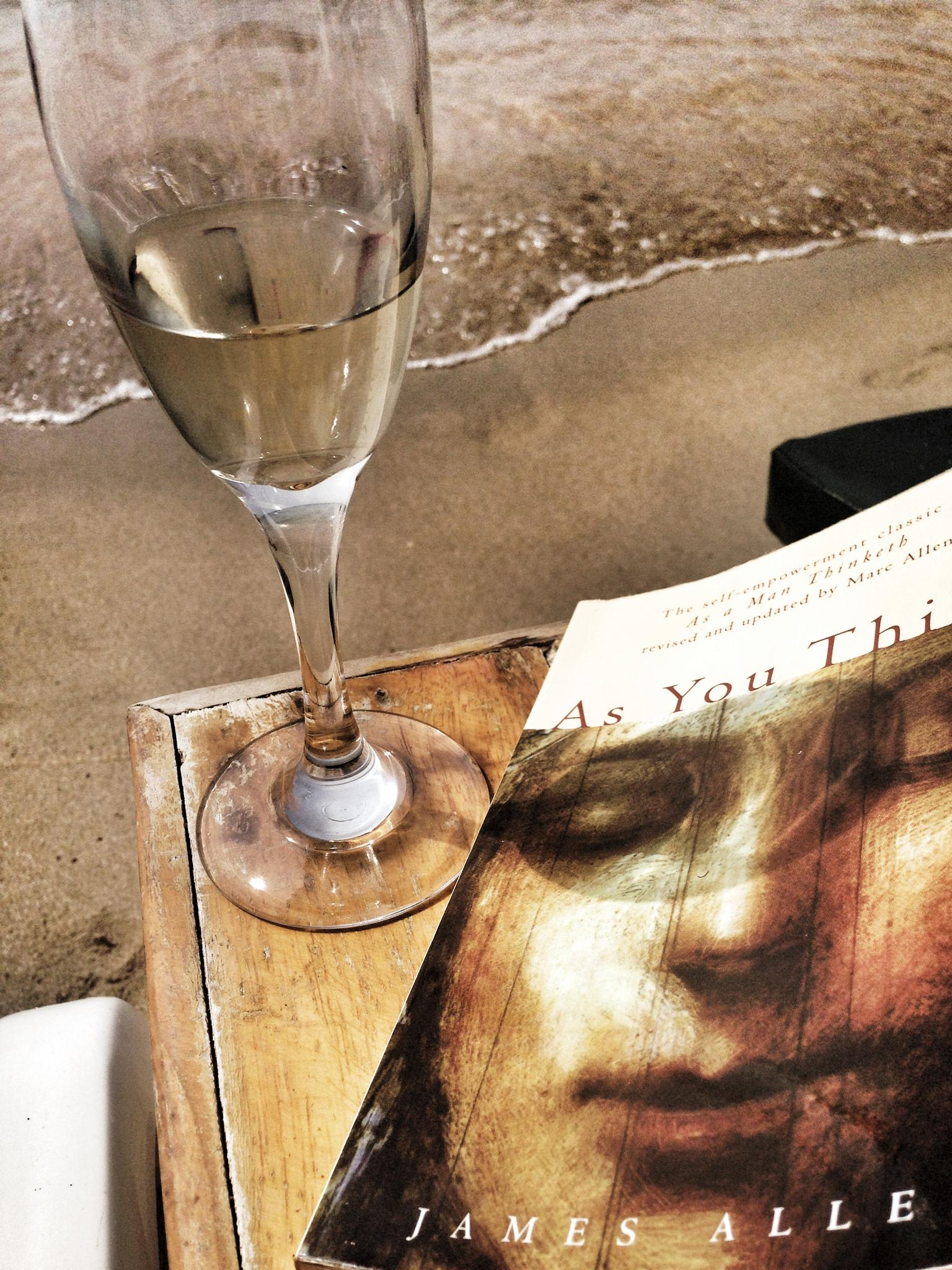 Beach, book and bubbles by Marika L