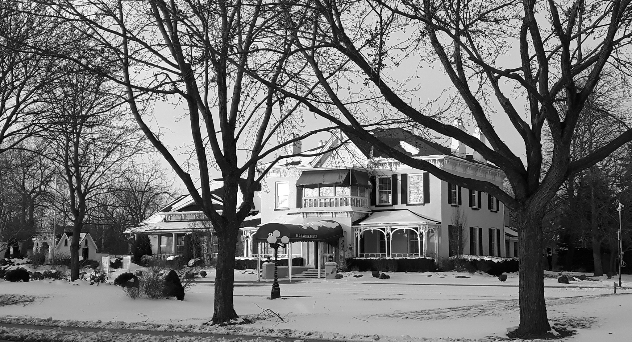 The Barber House In B&W by simonp
