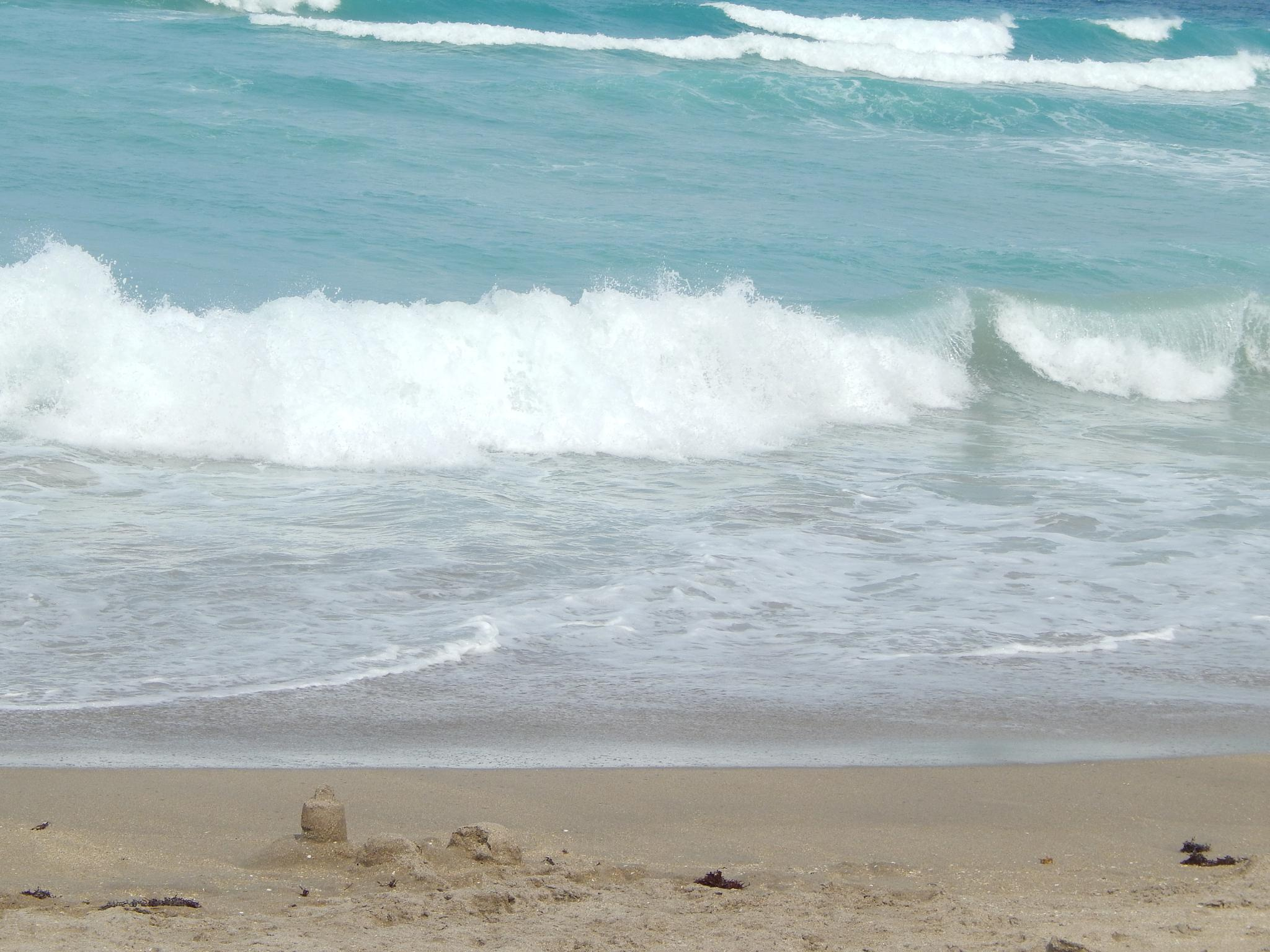 sand castles & waves by grannypam