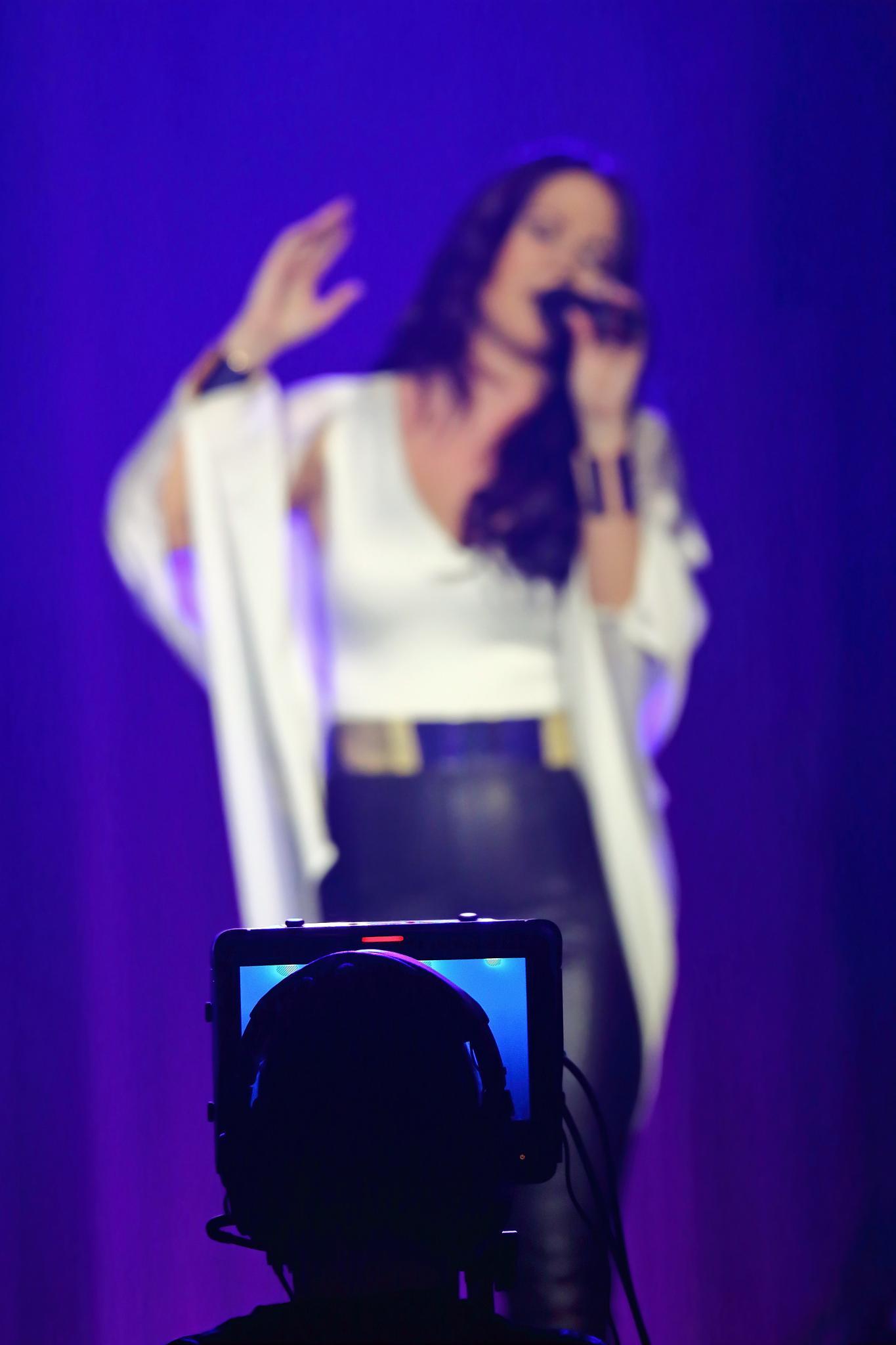 Cameraman filming the artist  by SRFOTO