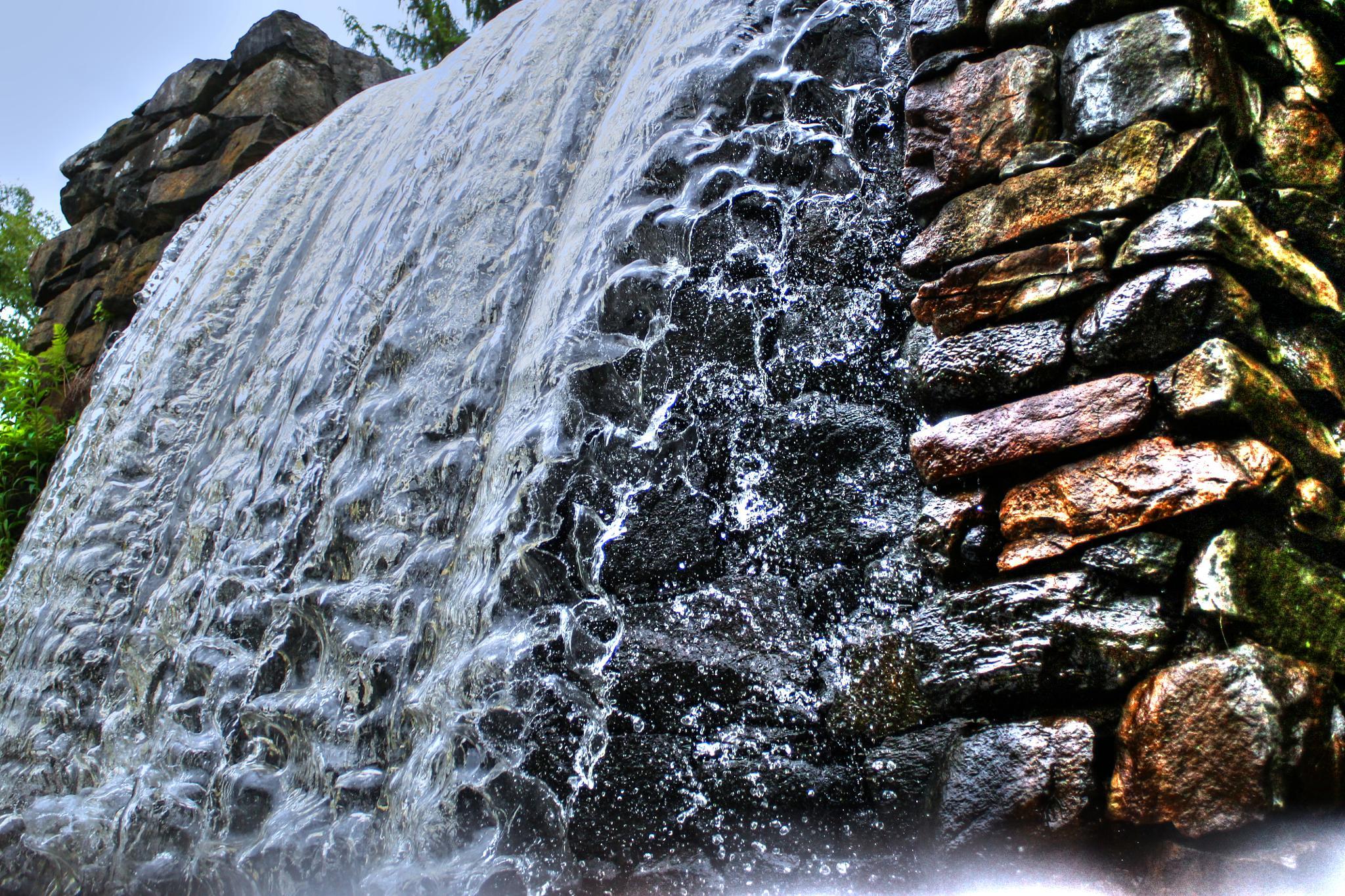 Watermill, waterfall  by Doug