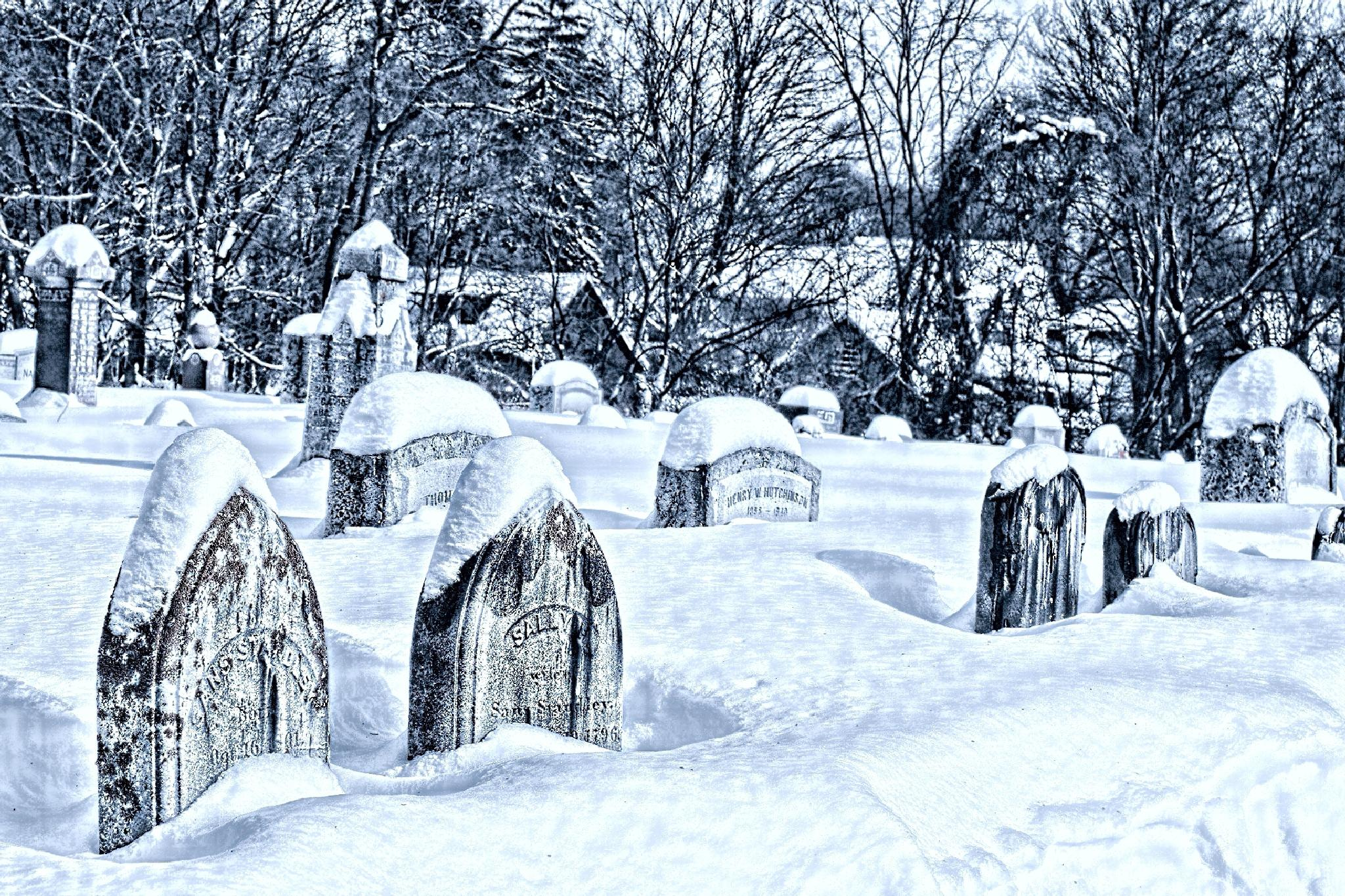 Graves in the snow by bgobiel