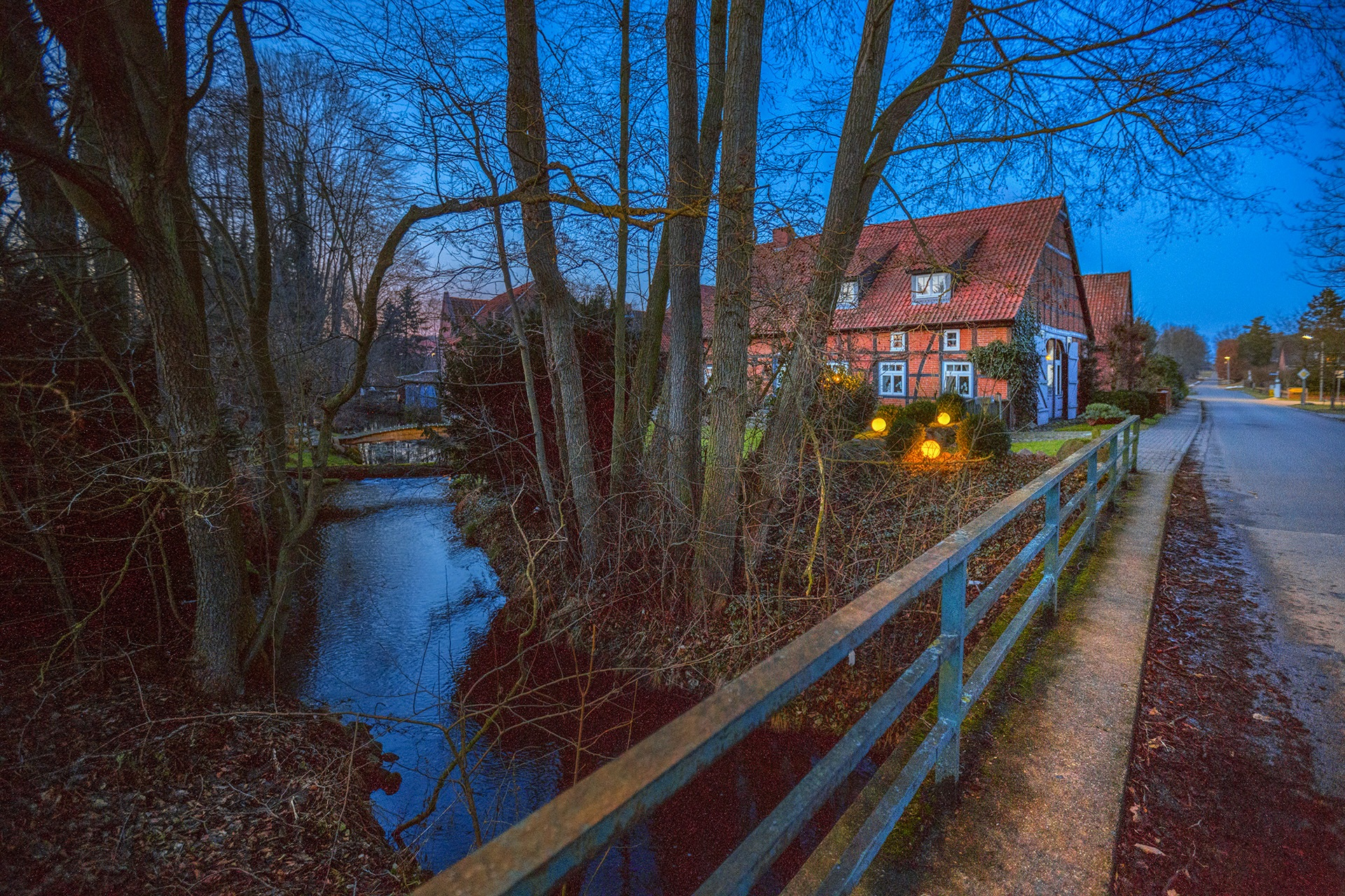 Winter evening in the village by Maik Richter Photography