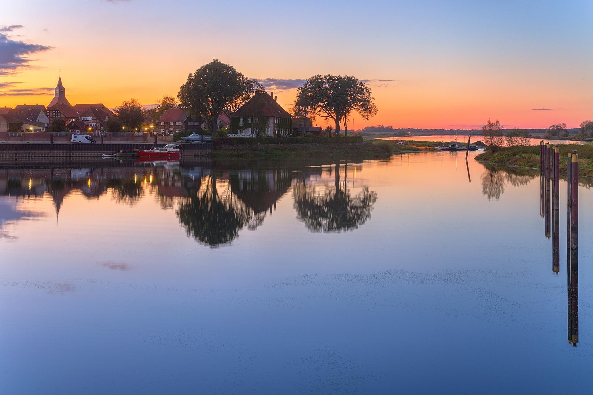 Blue hour in Schnackenburg by Maik Richter Photography