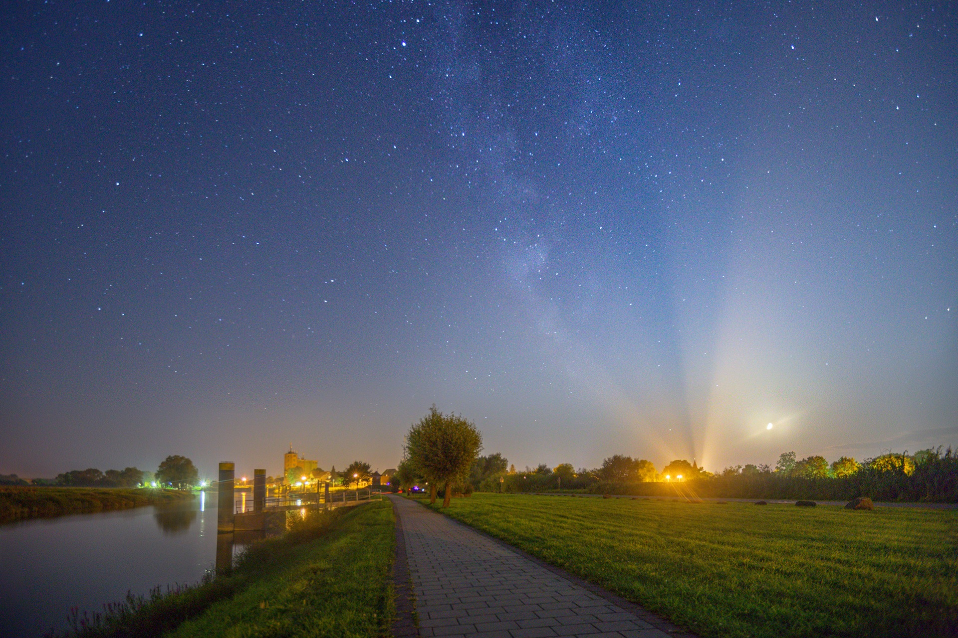 Starry sky over Bleckede 2 by Maik Richter Photography