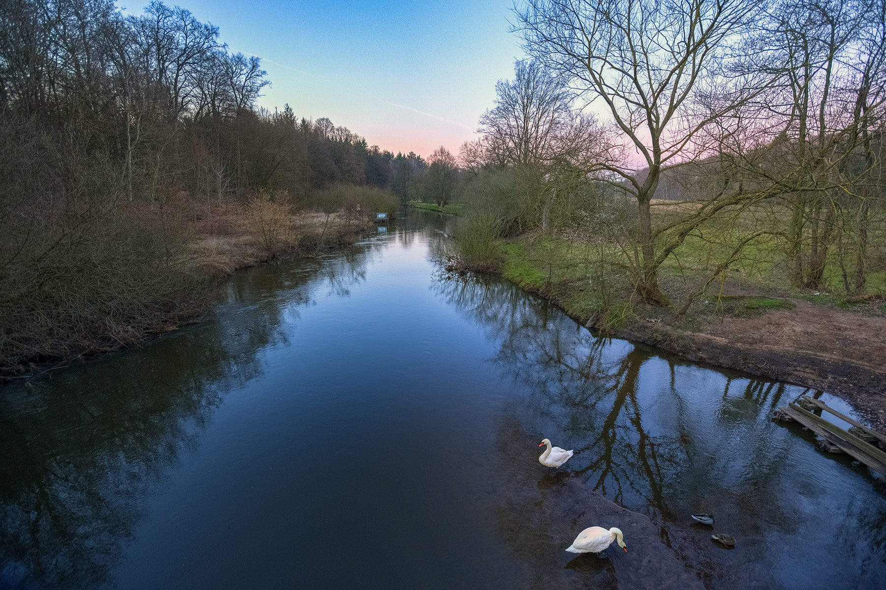 River Ilmenau at the blue hour by Maik Richter Photography