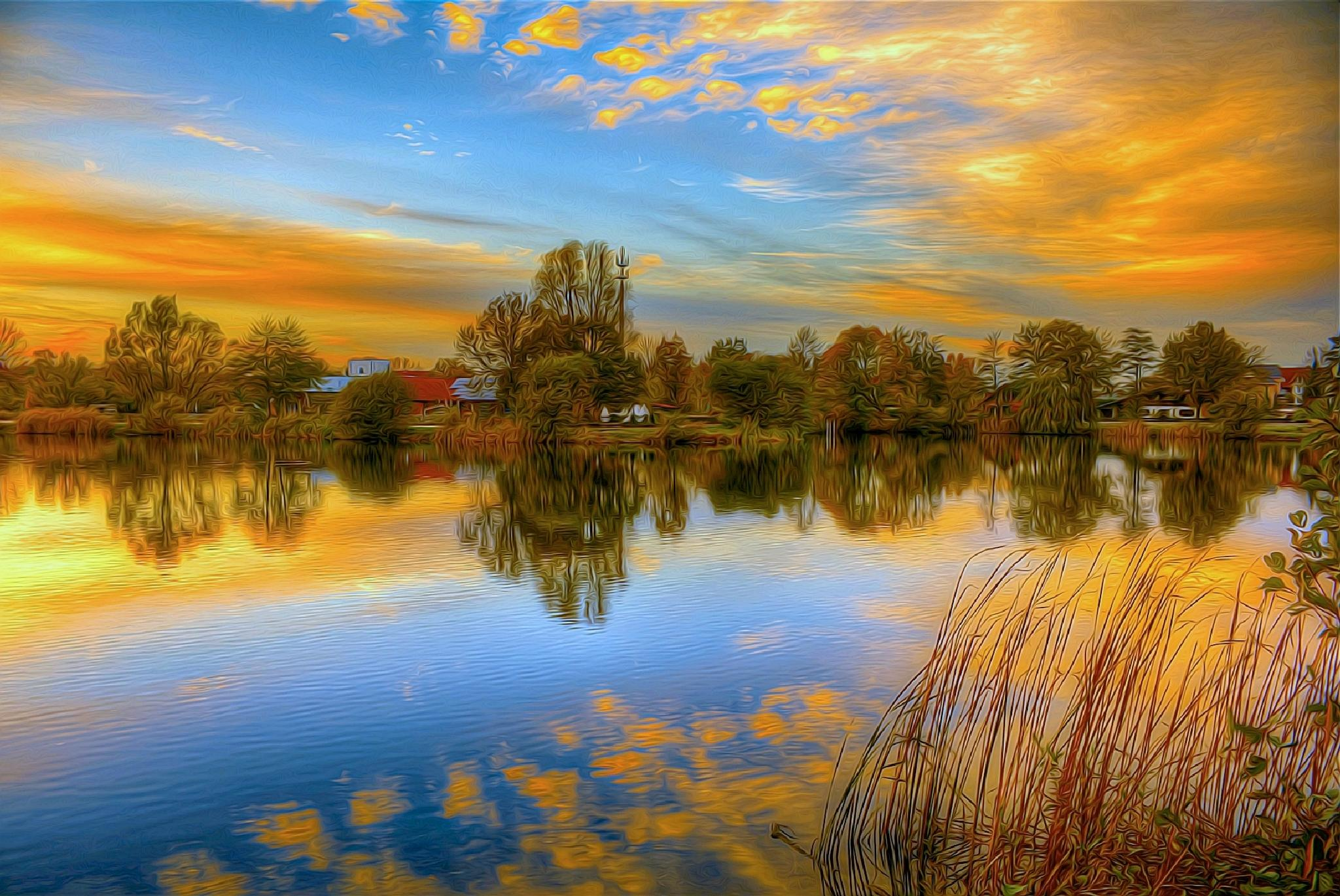 Oil filtered Lake by Maik Richter Photography