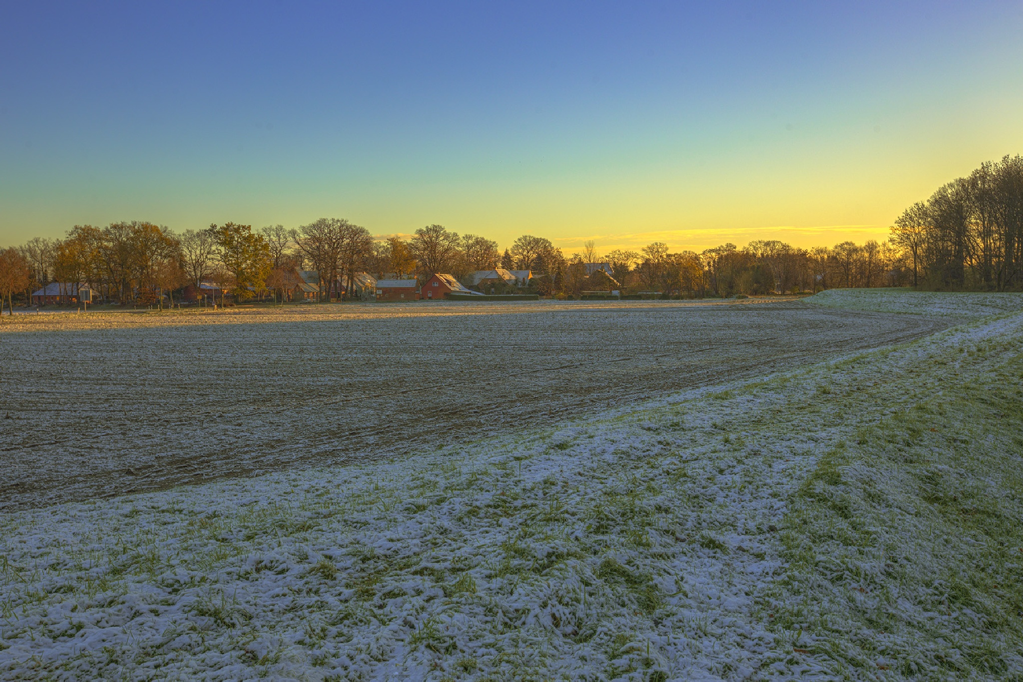 Today's sunrise and the first snow of the year by Maik Richter Photography