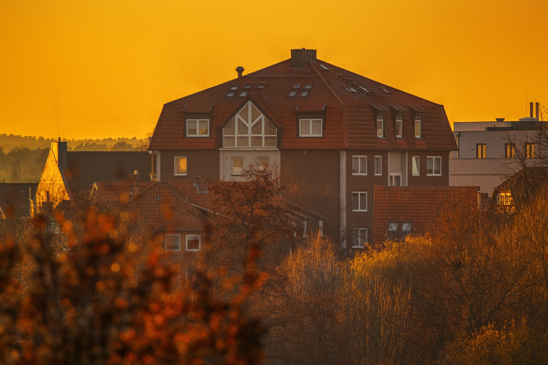 My town at the golden hour by Maik Richter Photography