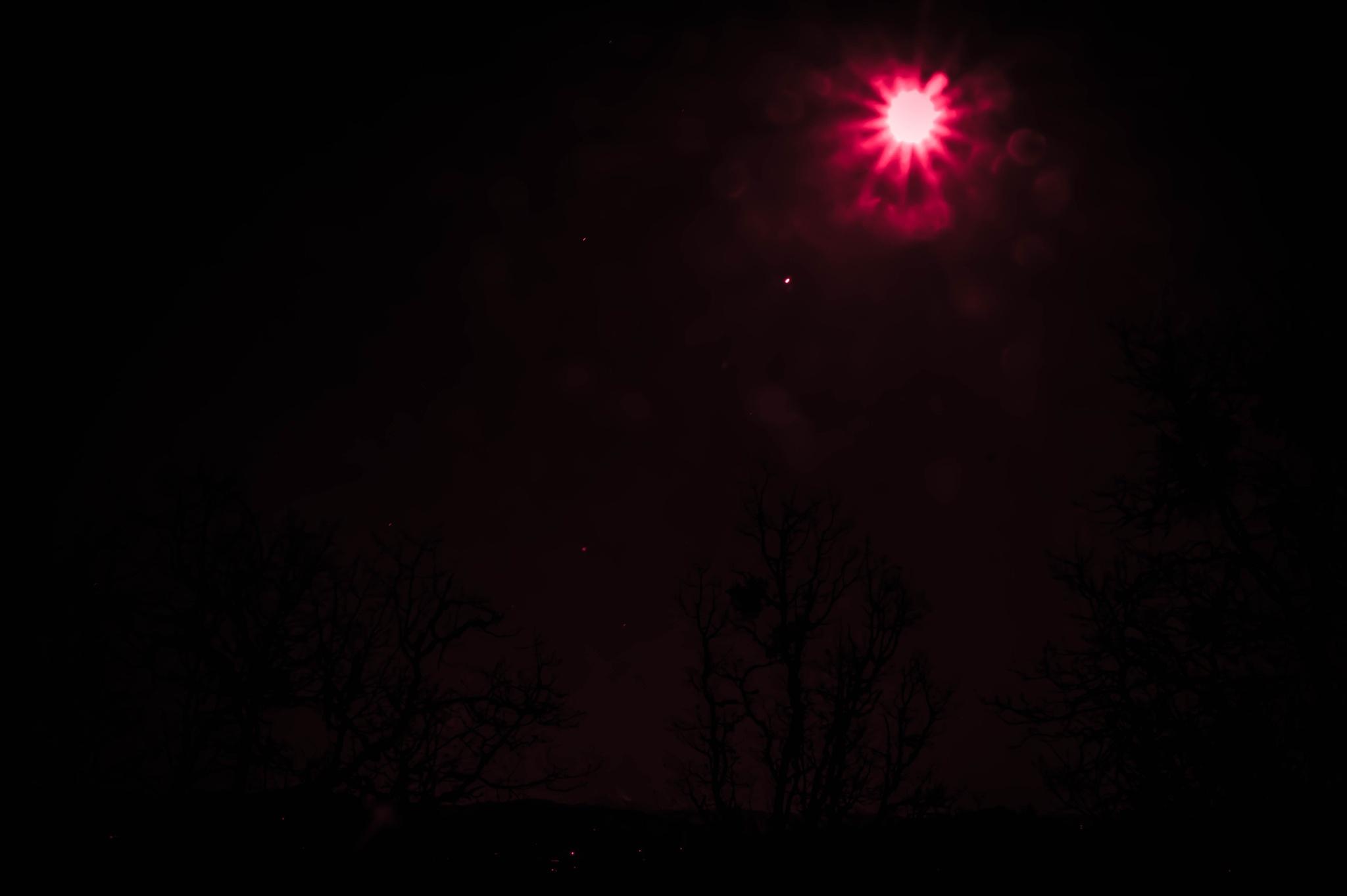 dark pink moon by hilson.kaia