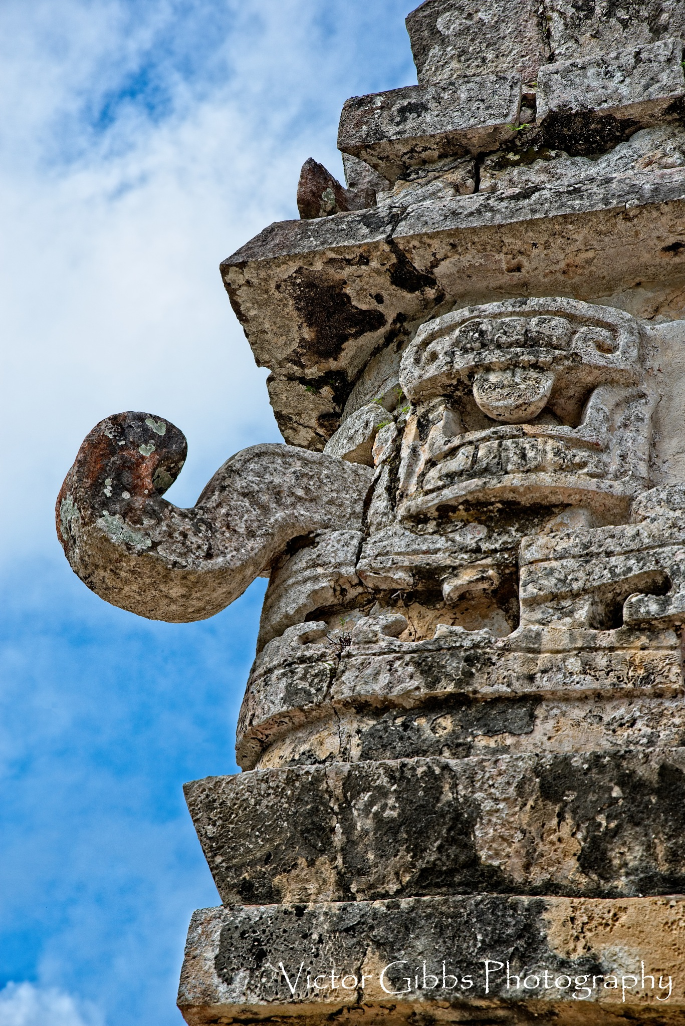 Chichen Itza Face by food4thoth