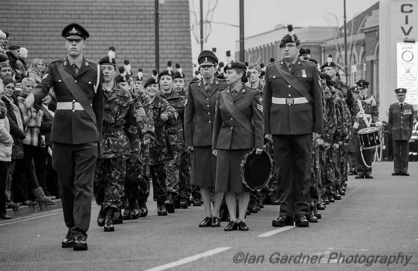 Army Cadets Marching by Ian Gardner