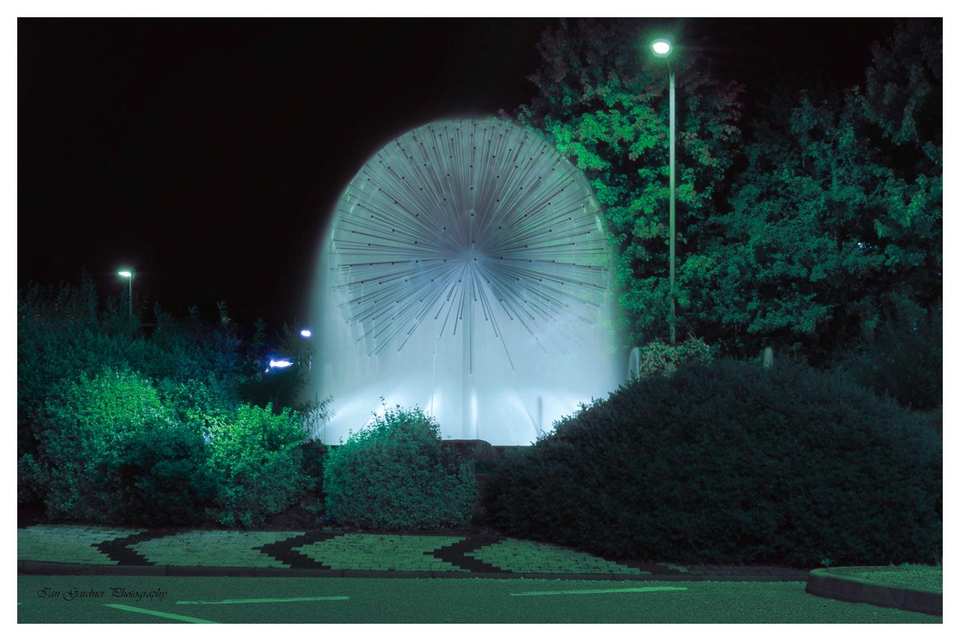 The Dandelion Fountain By Night by Ian Gardner