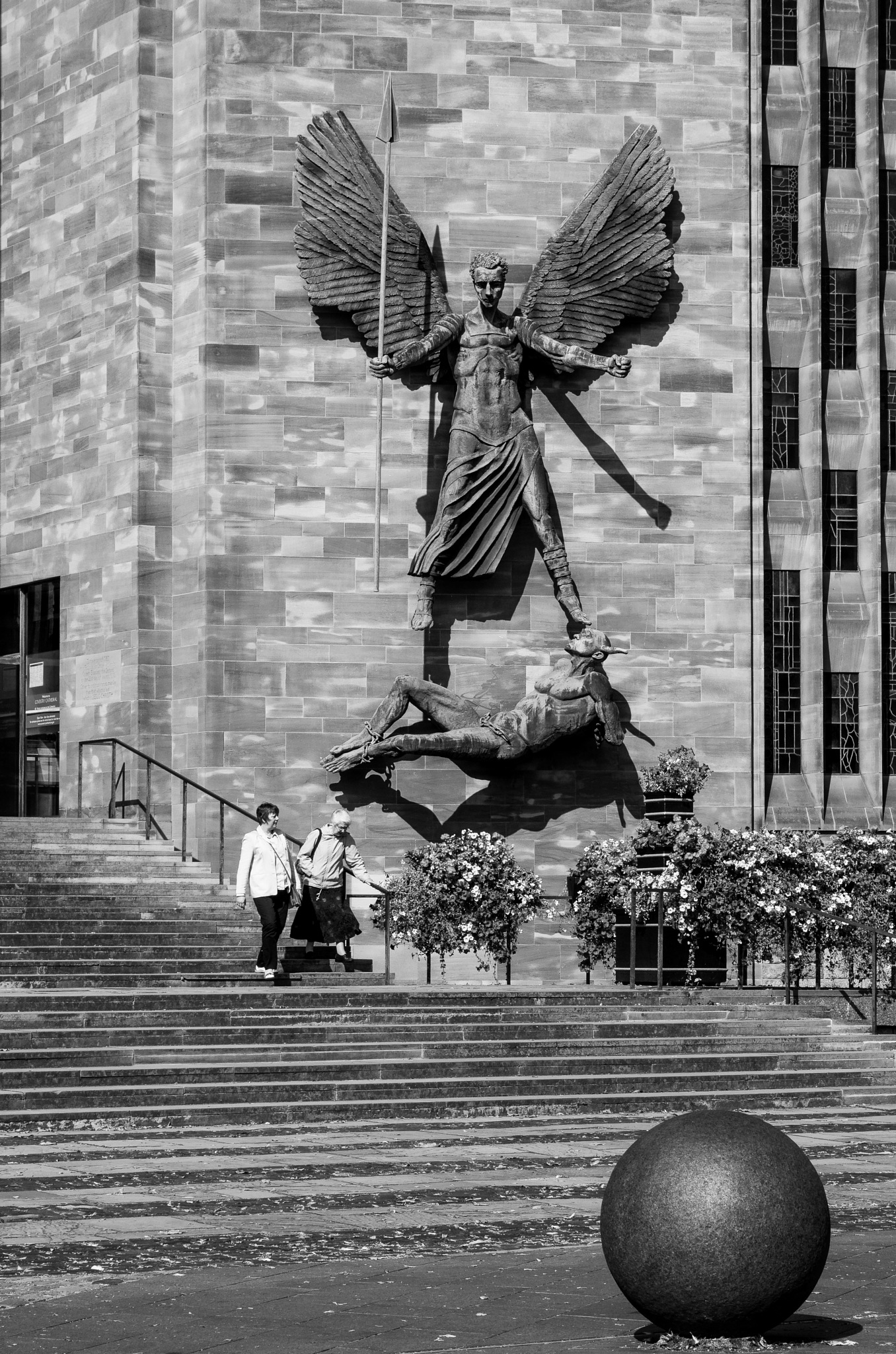 St Michael And The Devil by Ian Gardner