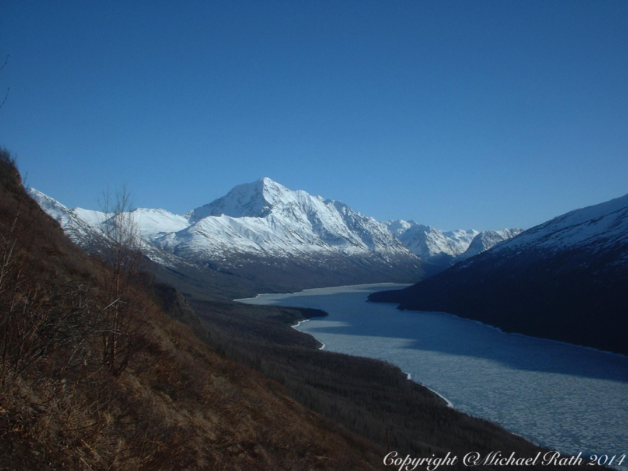 Eklutna Lake in winter by Michael
