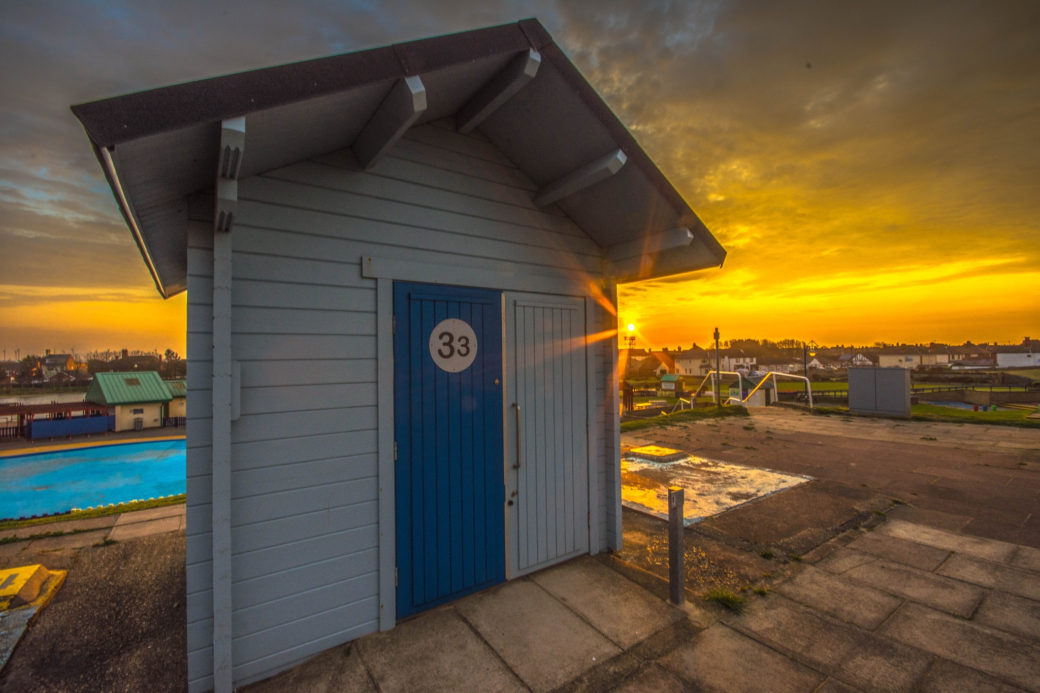 mablethorpe chalet at Sunset by robin.howe.56