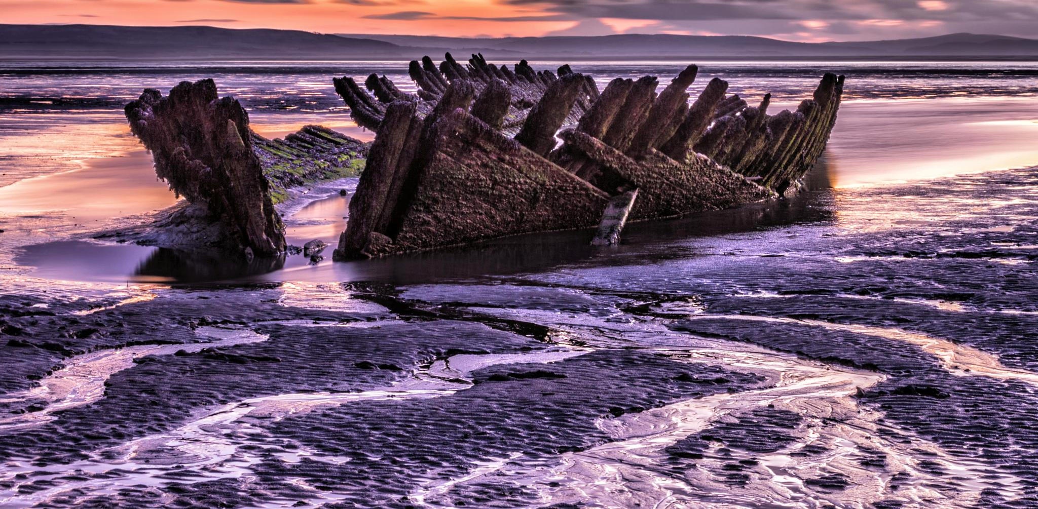 Photo in Landscape #wreck #ship #sea #sand #beached #abandomed