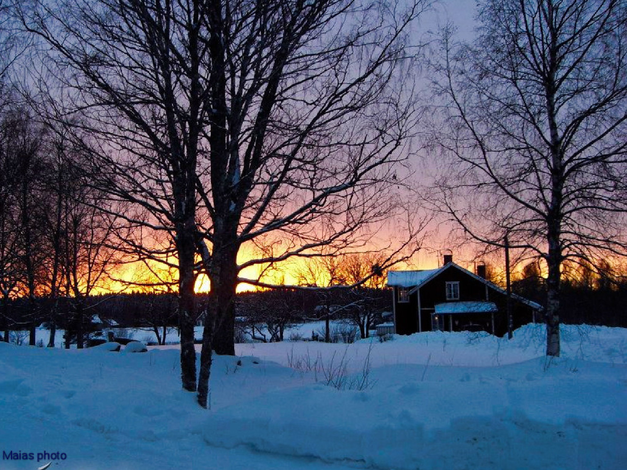 Kall solnedgång. by Maias photo